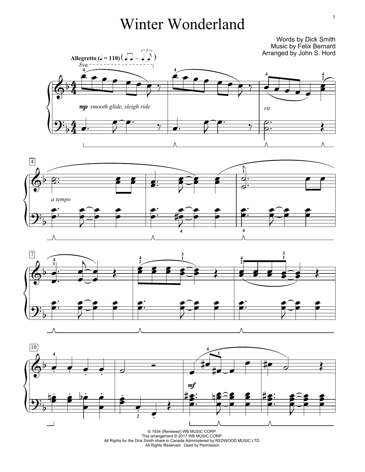 Winter Wonderland (Educational Piano)