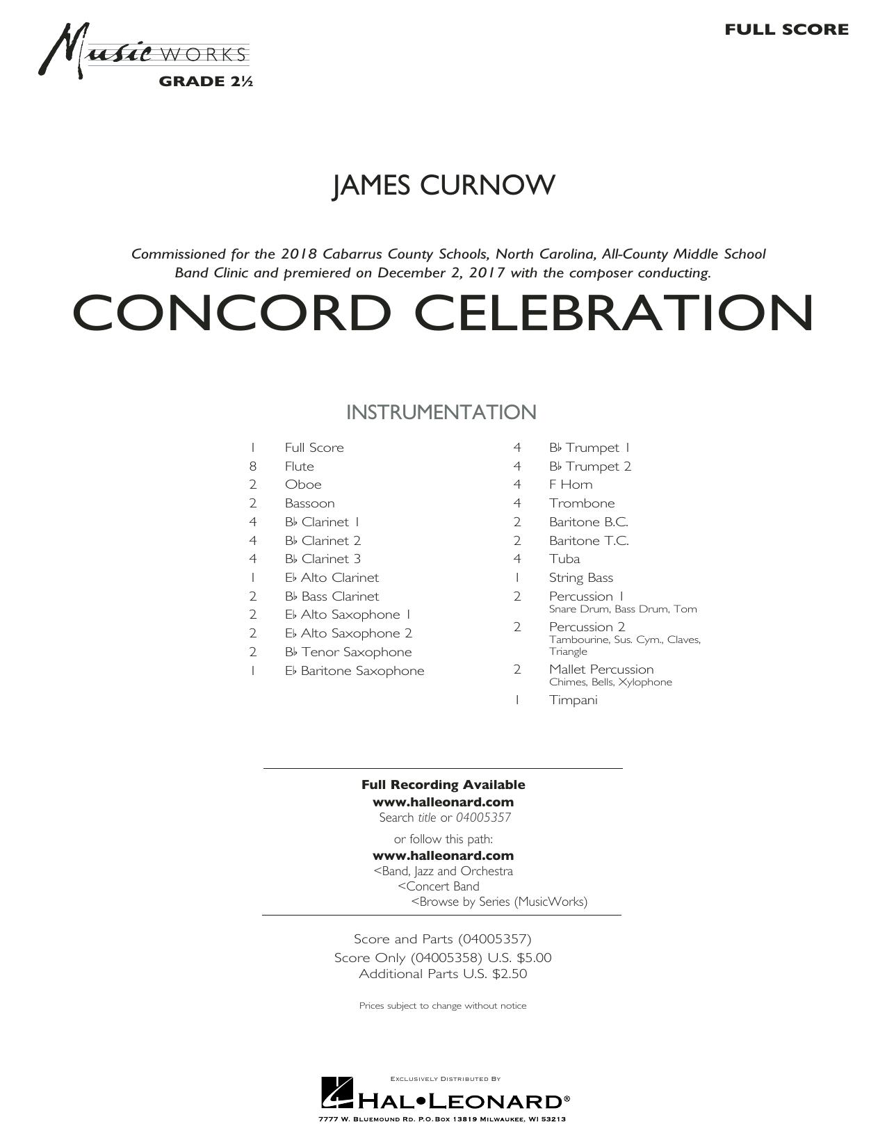 Concord Celebration - Conductor Score (Full Score) (Concert Band)