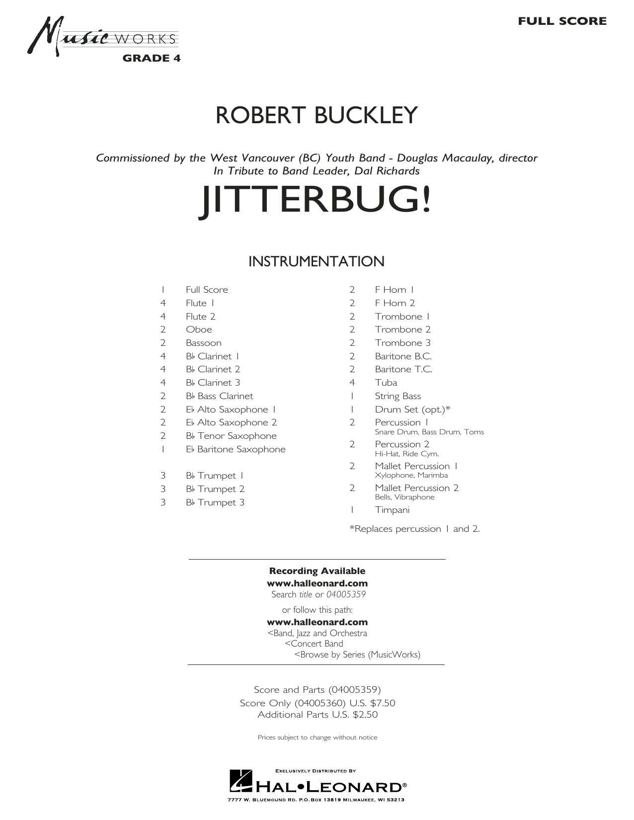 Jitterbug! - Conductor Score (Full Score) (Concert Band)