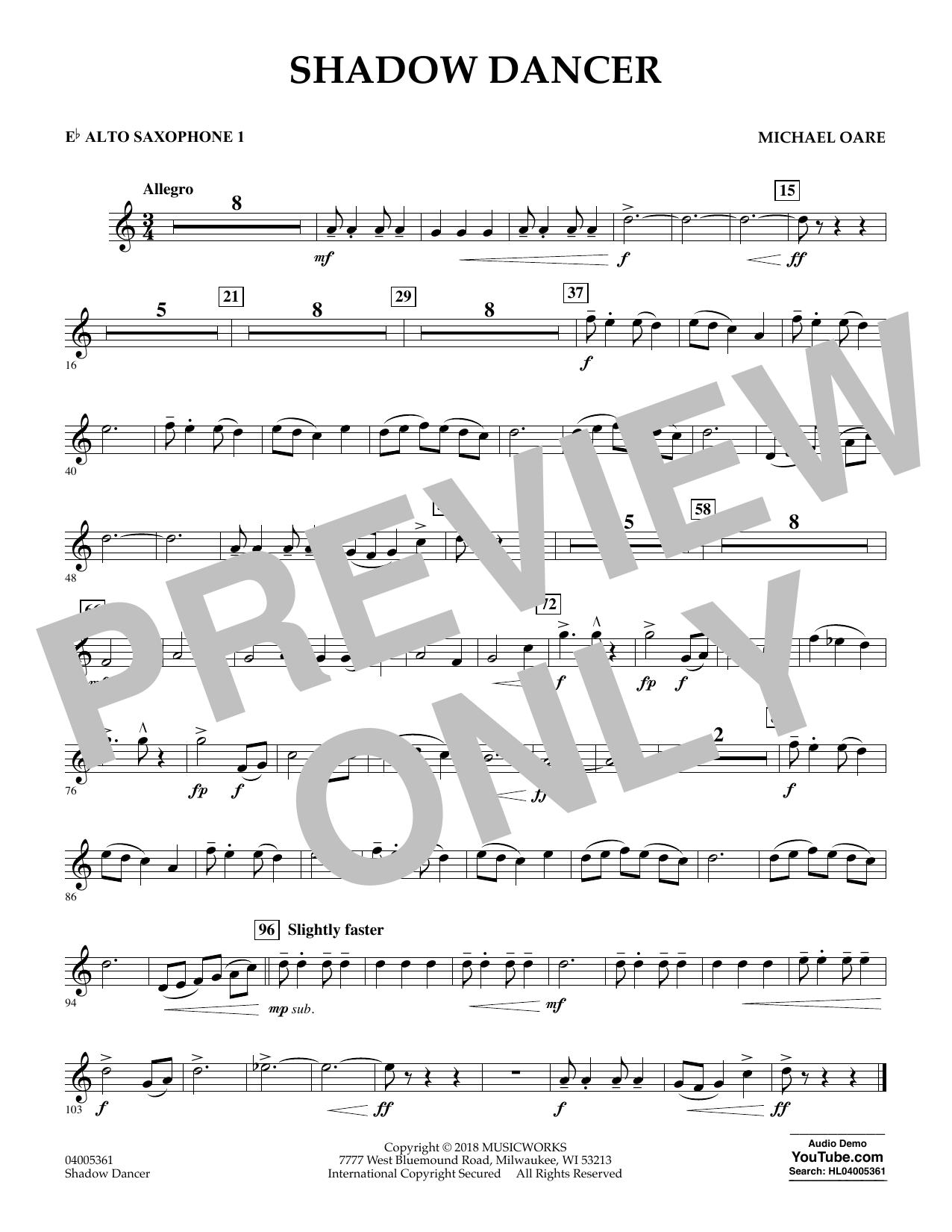 Shadow Dancer - Eb Alto Saxophone 1 (Concert Band)