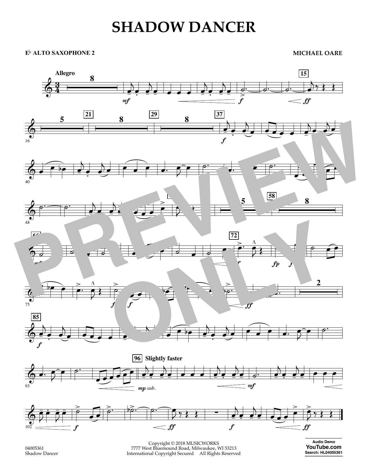 Shadow Dancer - Eb Alto Saxophone 2 (Concert Band)
