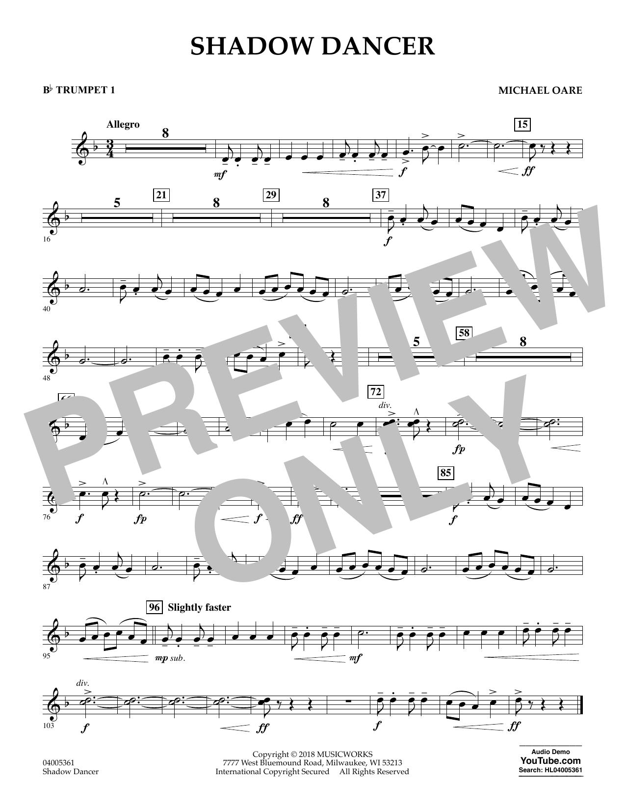 Shadow Dancer - Bb Trumpet 1 (Concert Band)