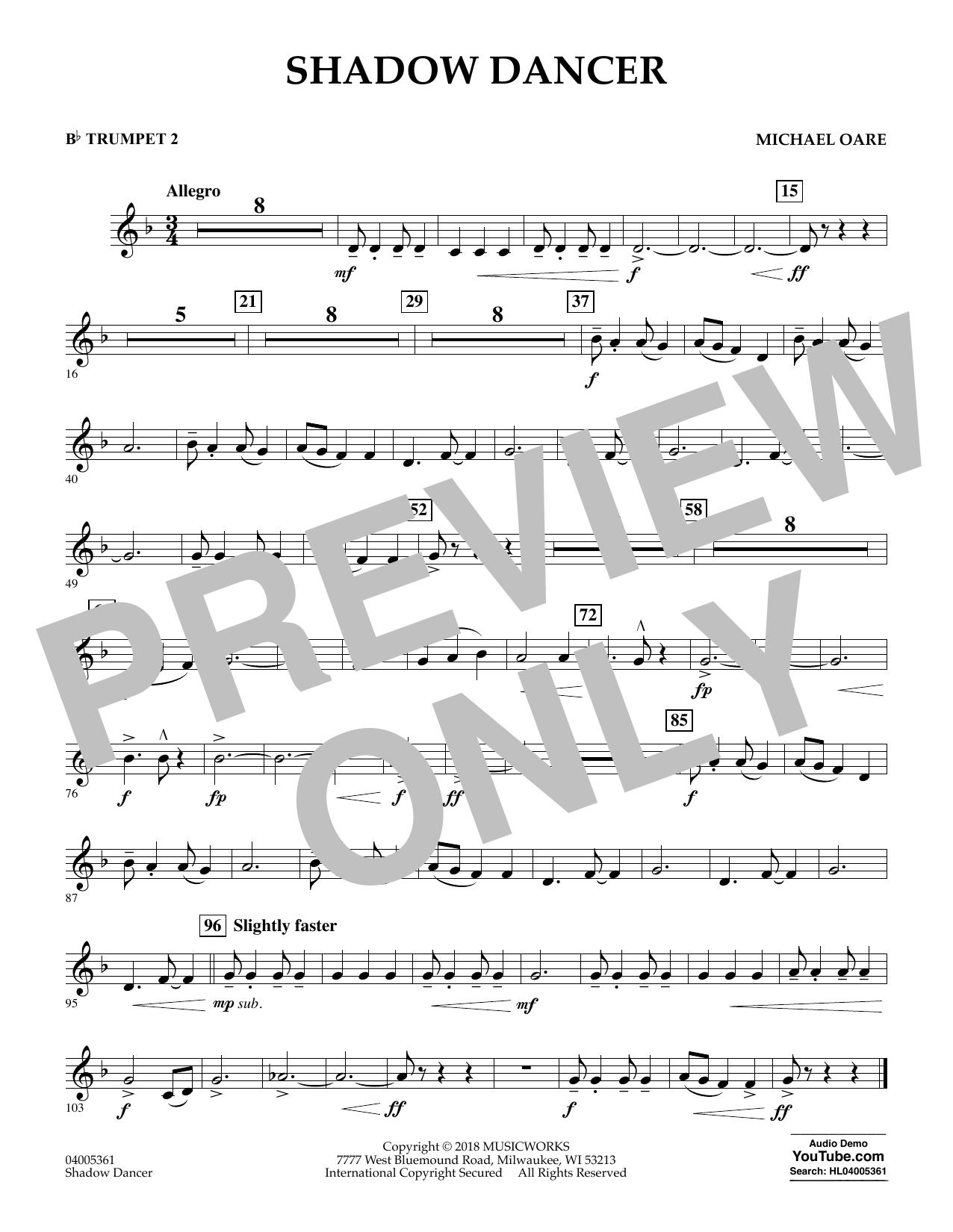 Shadow Dancer - Bb Trumpet 2 (Concert Band)