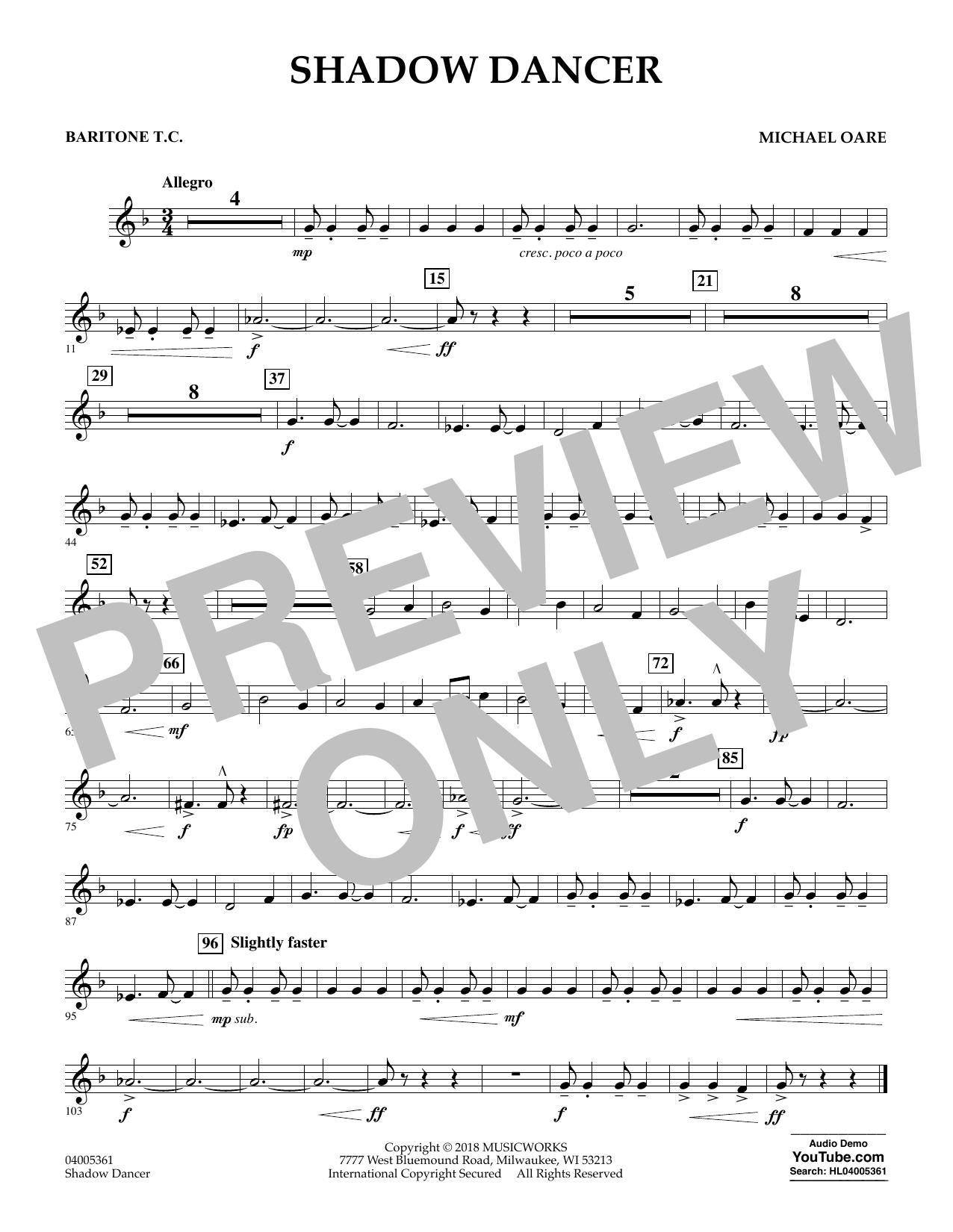 Shadow Dancer - Baritone T.C. (Concert Band)