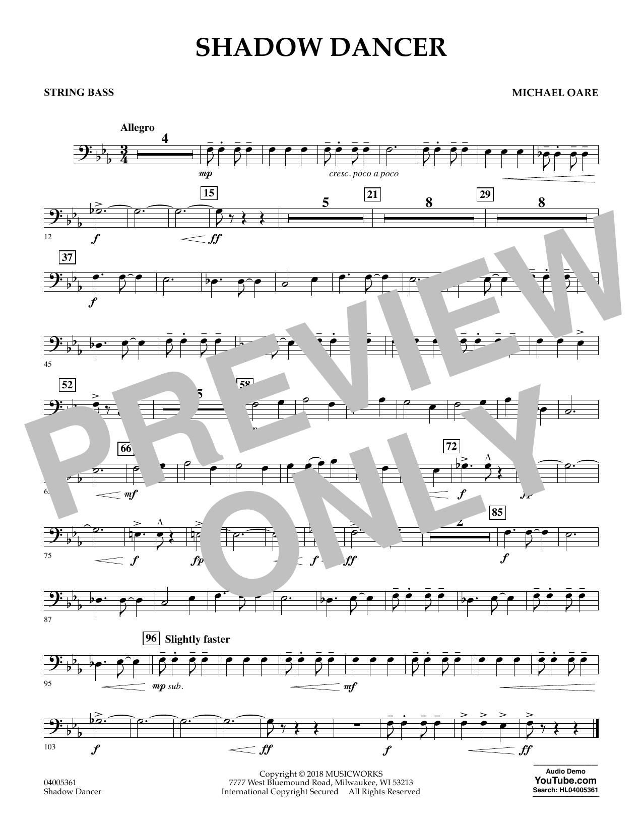 Shadow Dancer - String Bass (Concert Band)