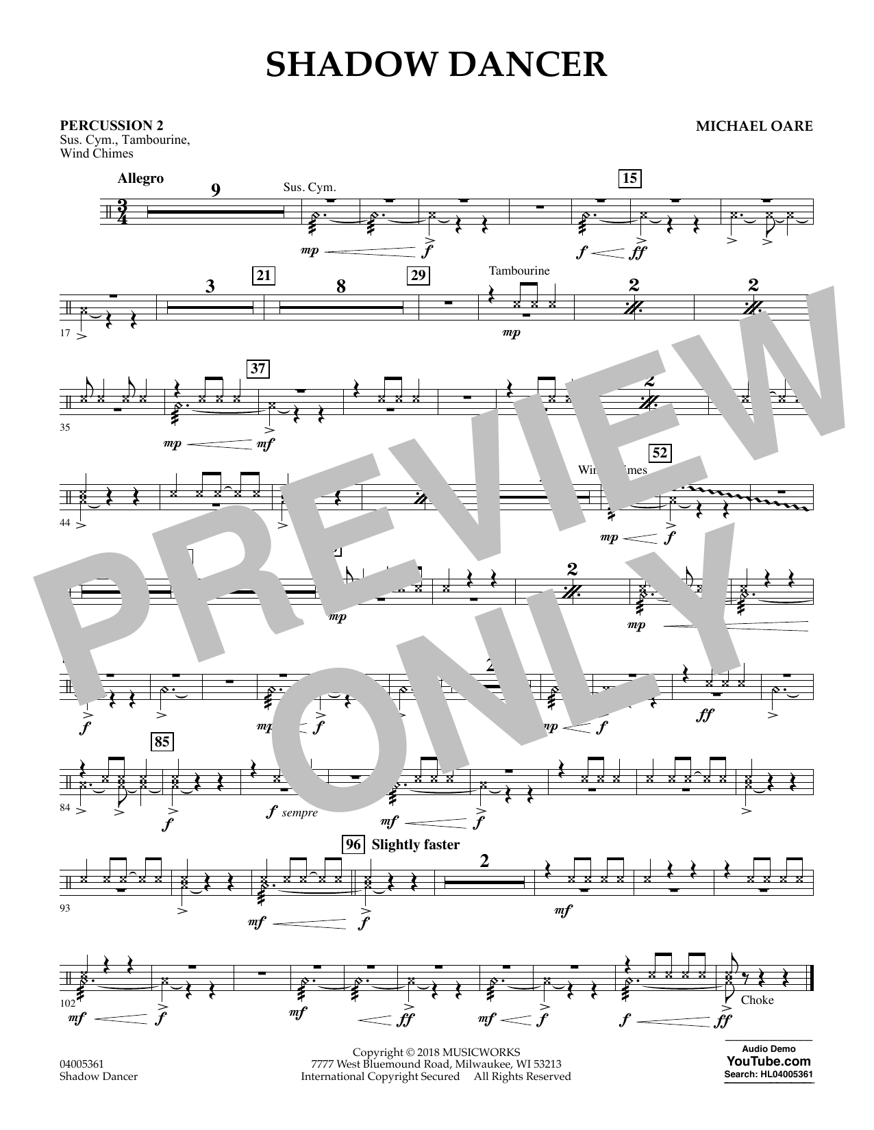 Shadow Dancer - Percussion 2 (Concert Band)