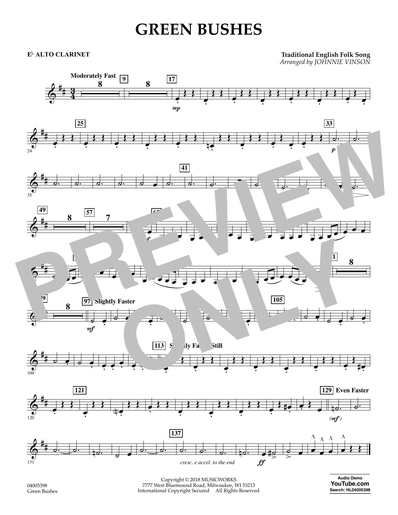Green Bushes - Eb Alto Clarinet (Concert Band)