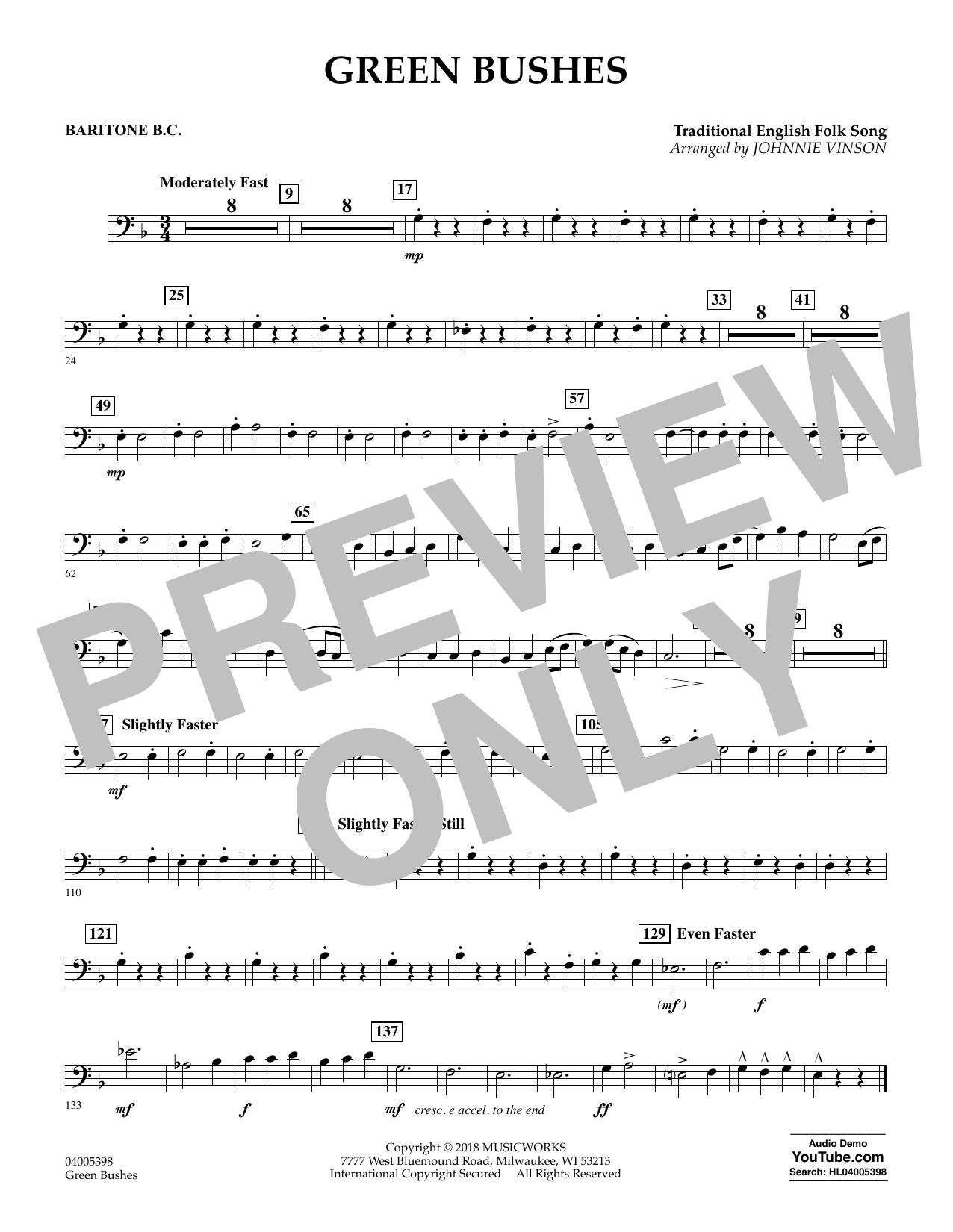 Green Bushes - Baritone B.C. (Concert Band)