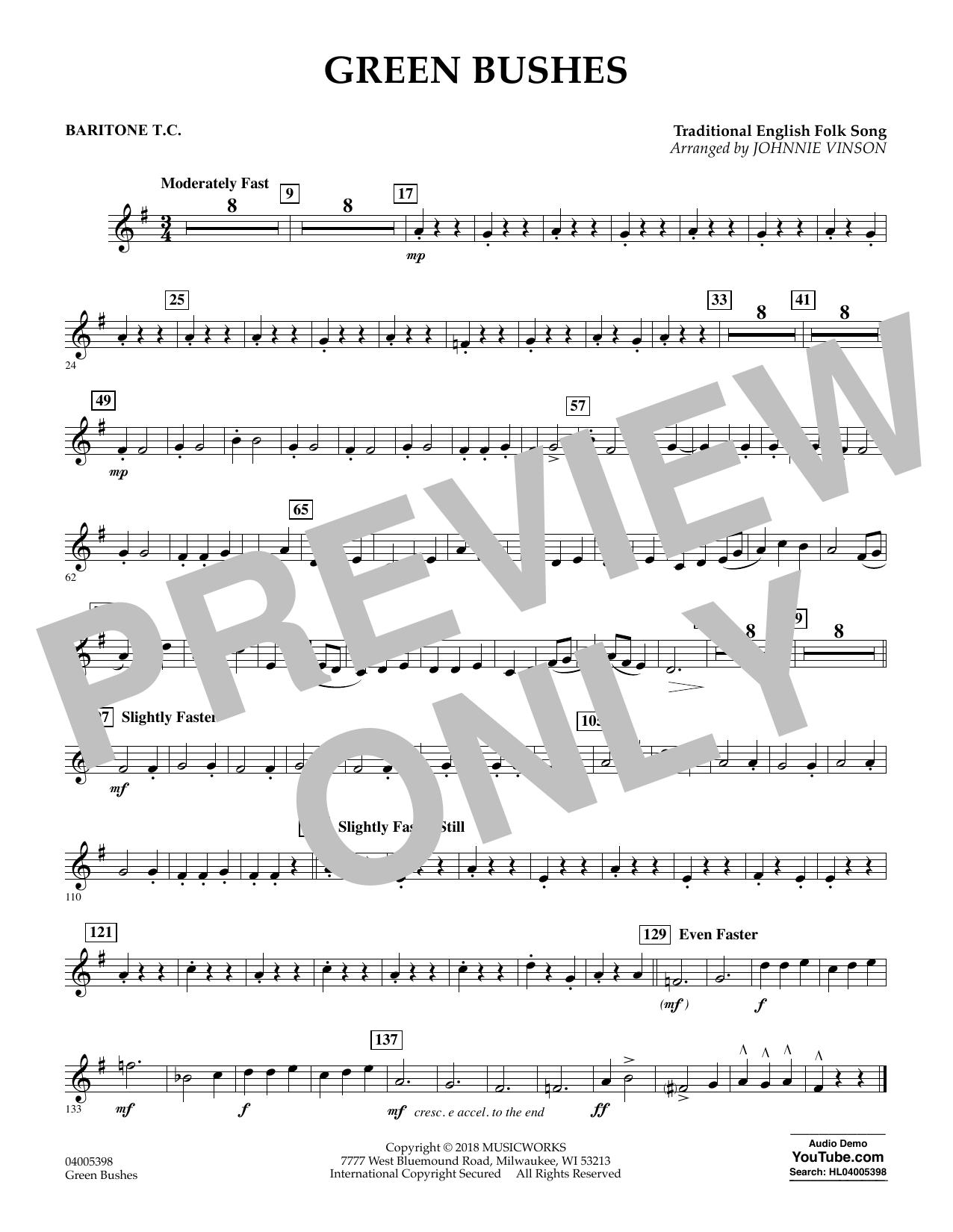 Green Bushes - Baritone T.C. (Concert Band)