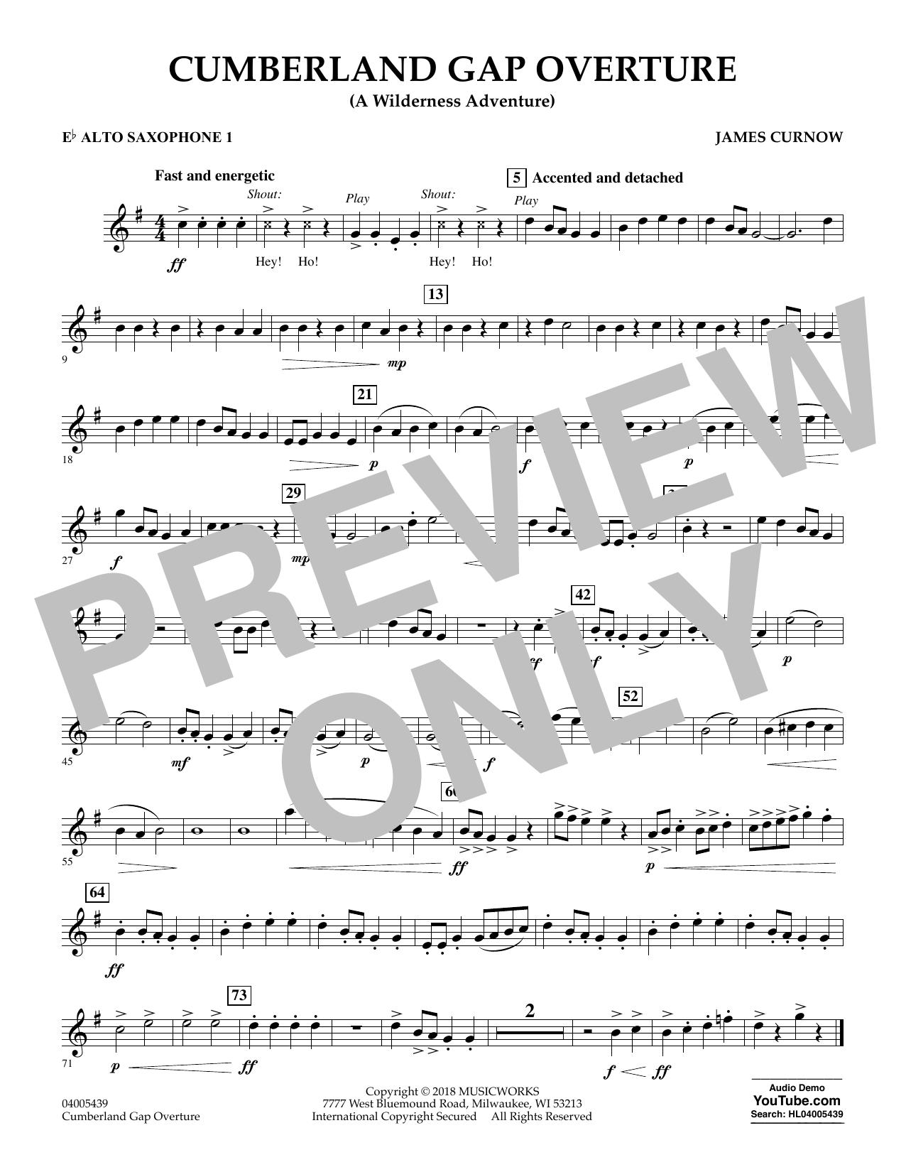 Cumberland Gap Overture (A Wilderness Adventure) - Eb Alto Saxophone 1 (Concert Band)