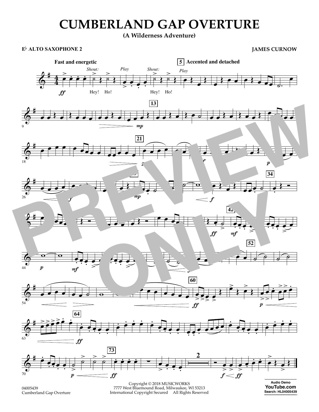Cumberland Gap Overture (A Wilderness Adventure) - Eb Alto Saxophone 2 (Concert Band)