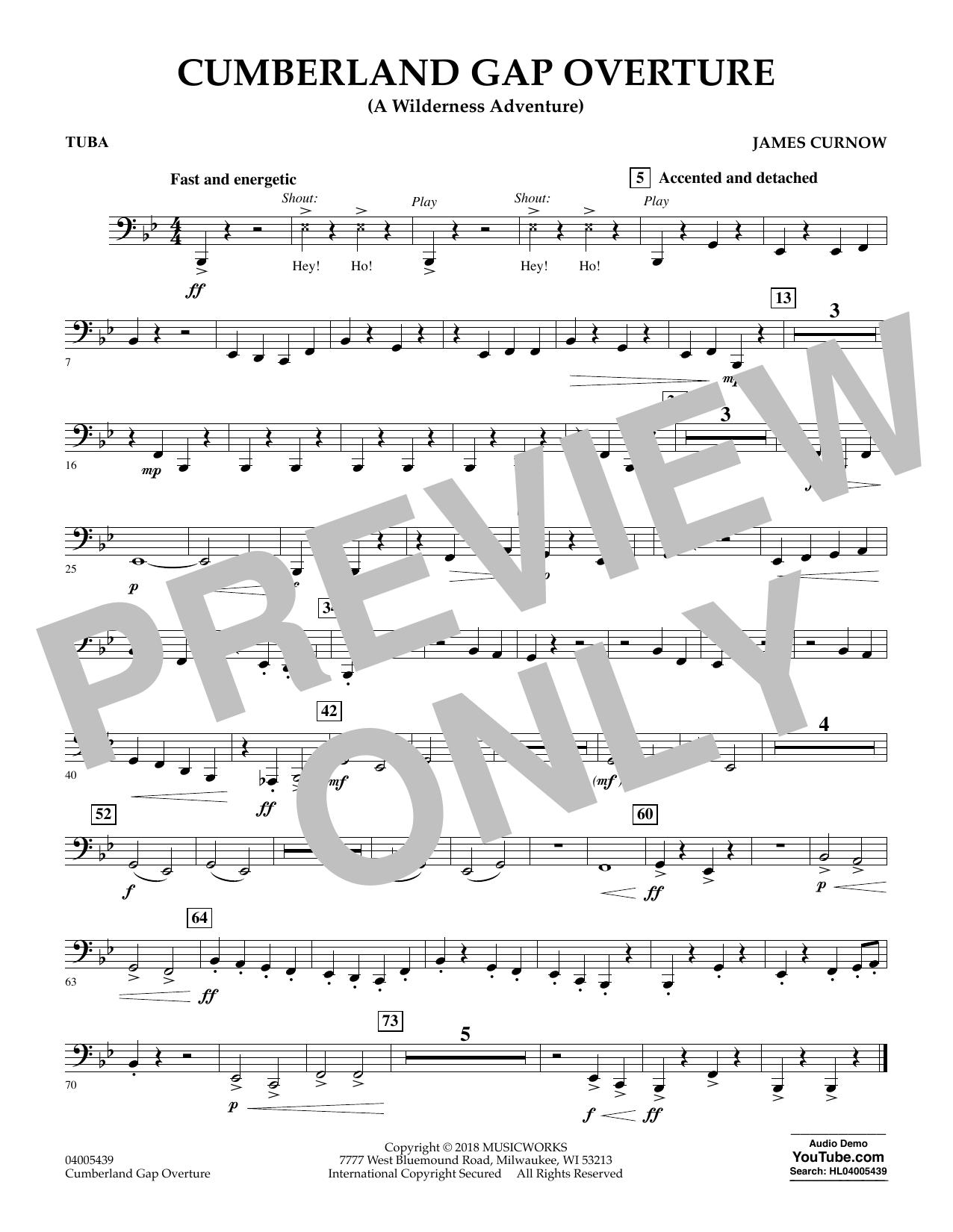 Cumberland Gap Overture (A Wilderness Adventure) - Tuba (Concert Band)