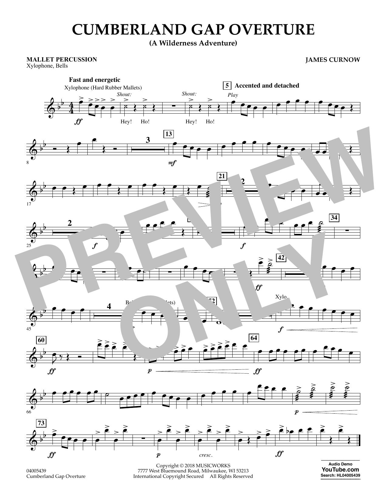 Cumberland Gap Overture (A Wilderness Adventure) - Mallet Percussion (Concert Band)
