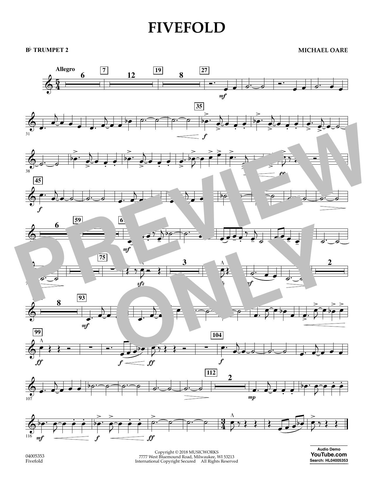 Fivefold - Bb Trumpet 2 (Concert Band)
