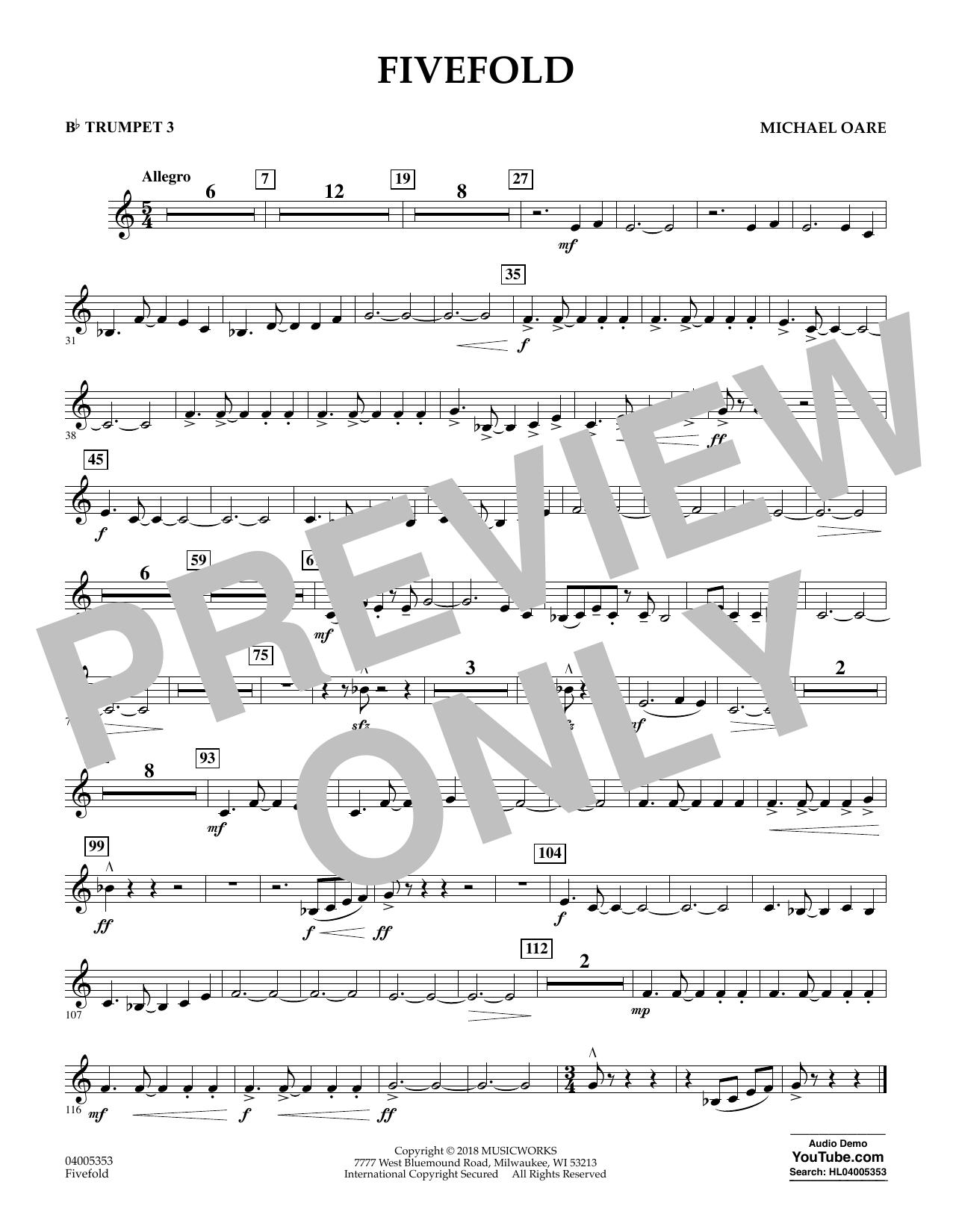 Fivefold - Bb Trumpet 3 (Concert Band)