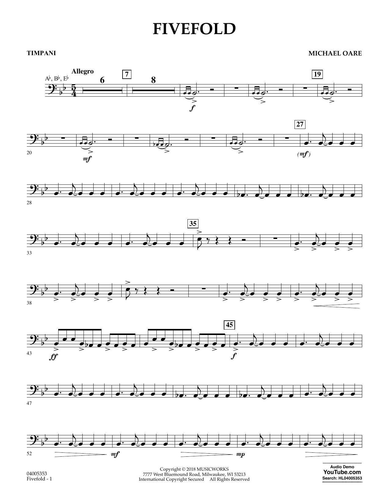 Fivefold - Timpani (Concert Band)