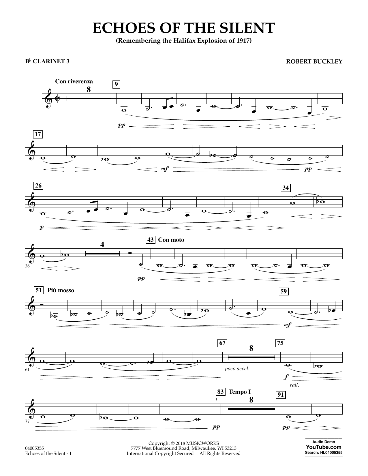 Echoes of the Silent - Bb Clarinet 3 (Concert Band)