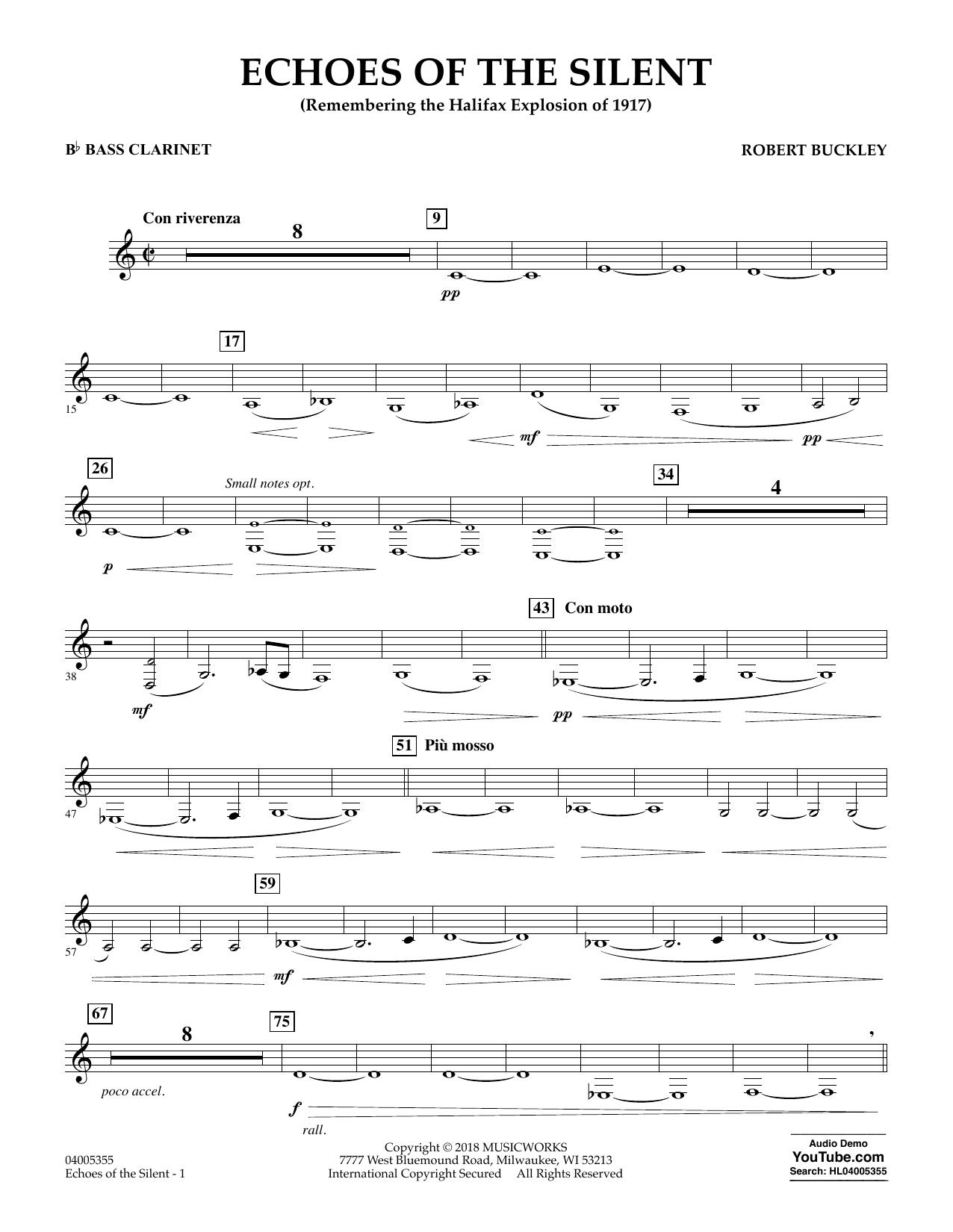 Echoes of the Silent - Bb Bass Clarinet (Concert Band)