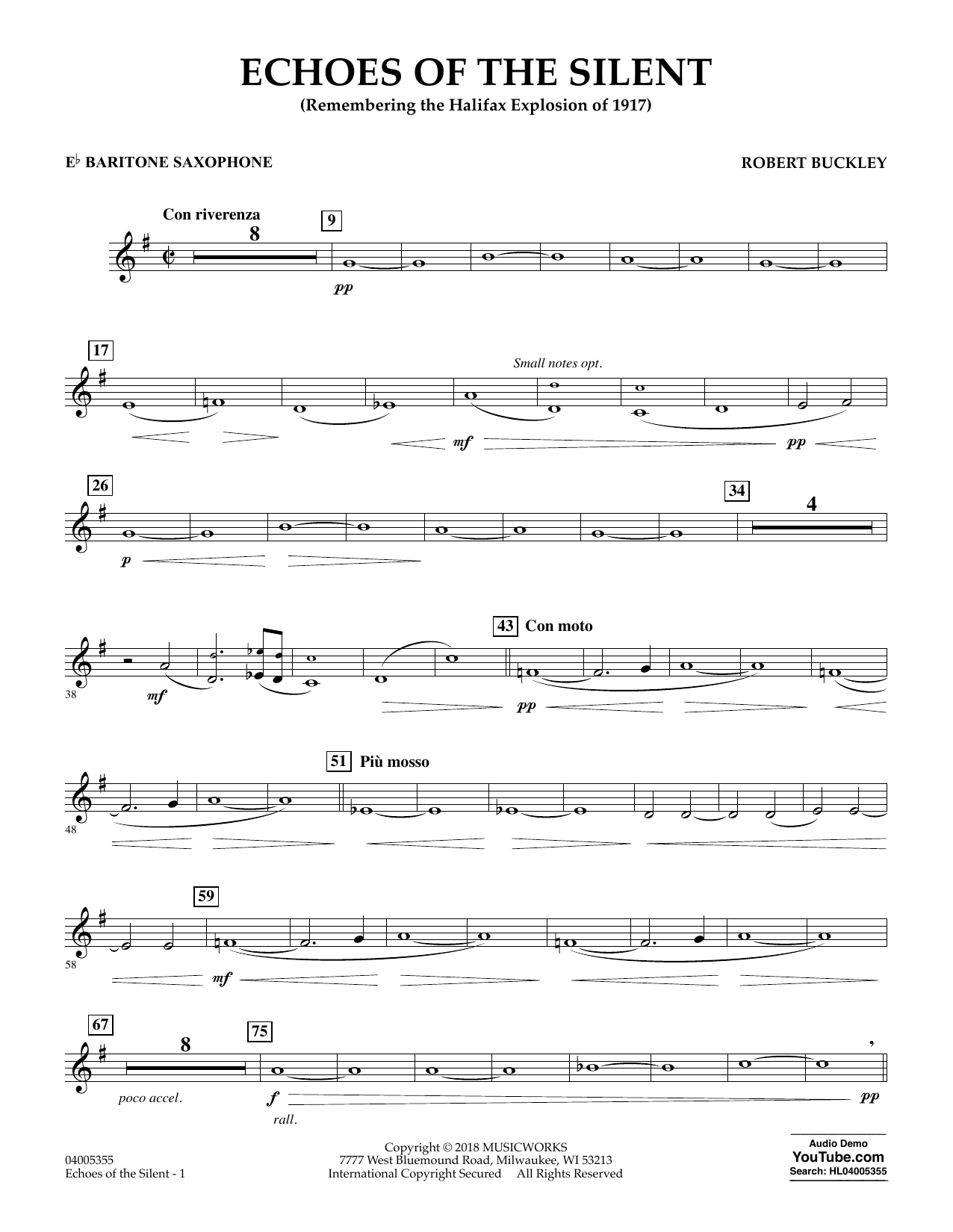 Echoes of the Silent - Eb Baritone Saxophone (Concert Band)