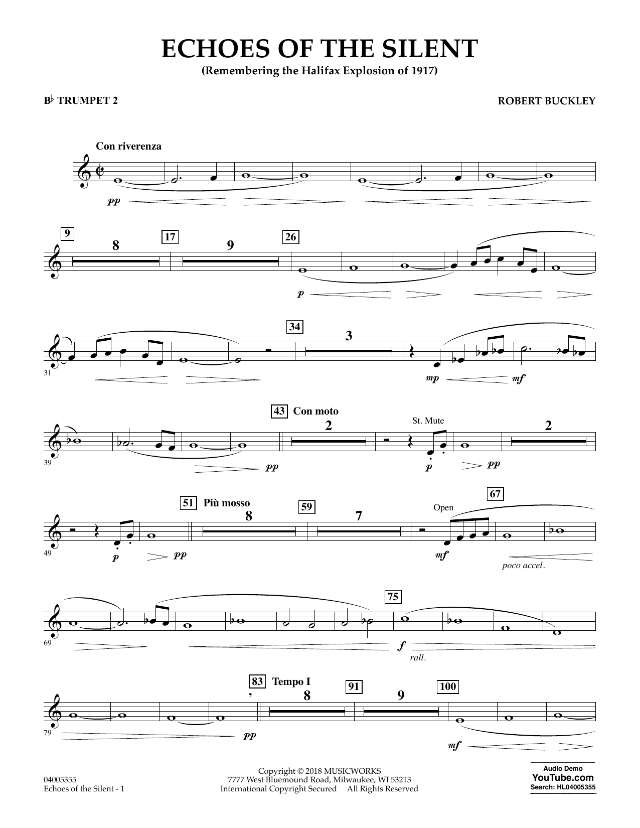 Echoes of the Silent - Bb Trumpet 2 (Concert Band)