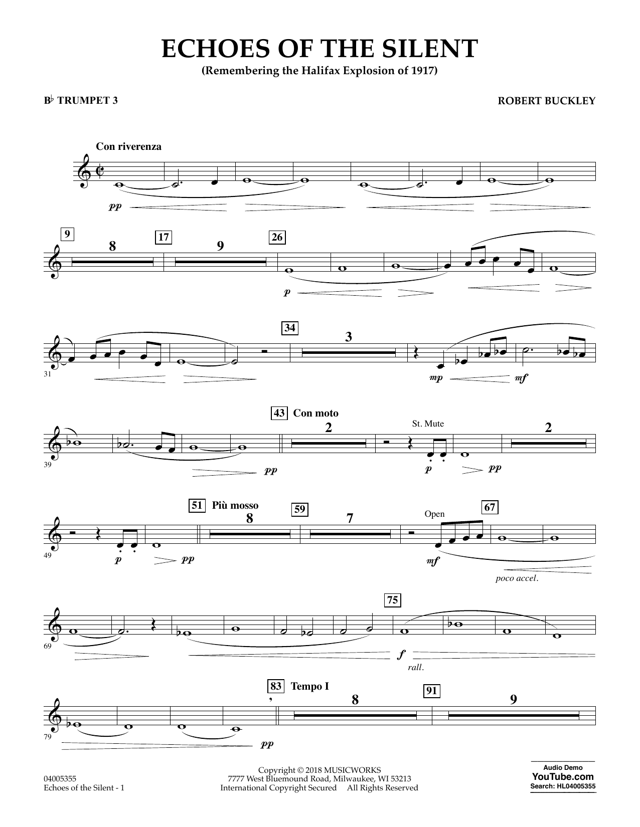 Echoes of the Silent - Bb Trumpet 3 (Concert Band)