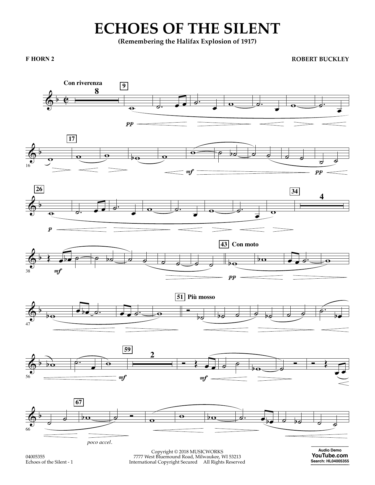 Echoes of the Silent - F Horn 2 (Concert Band)