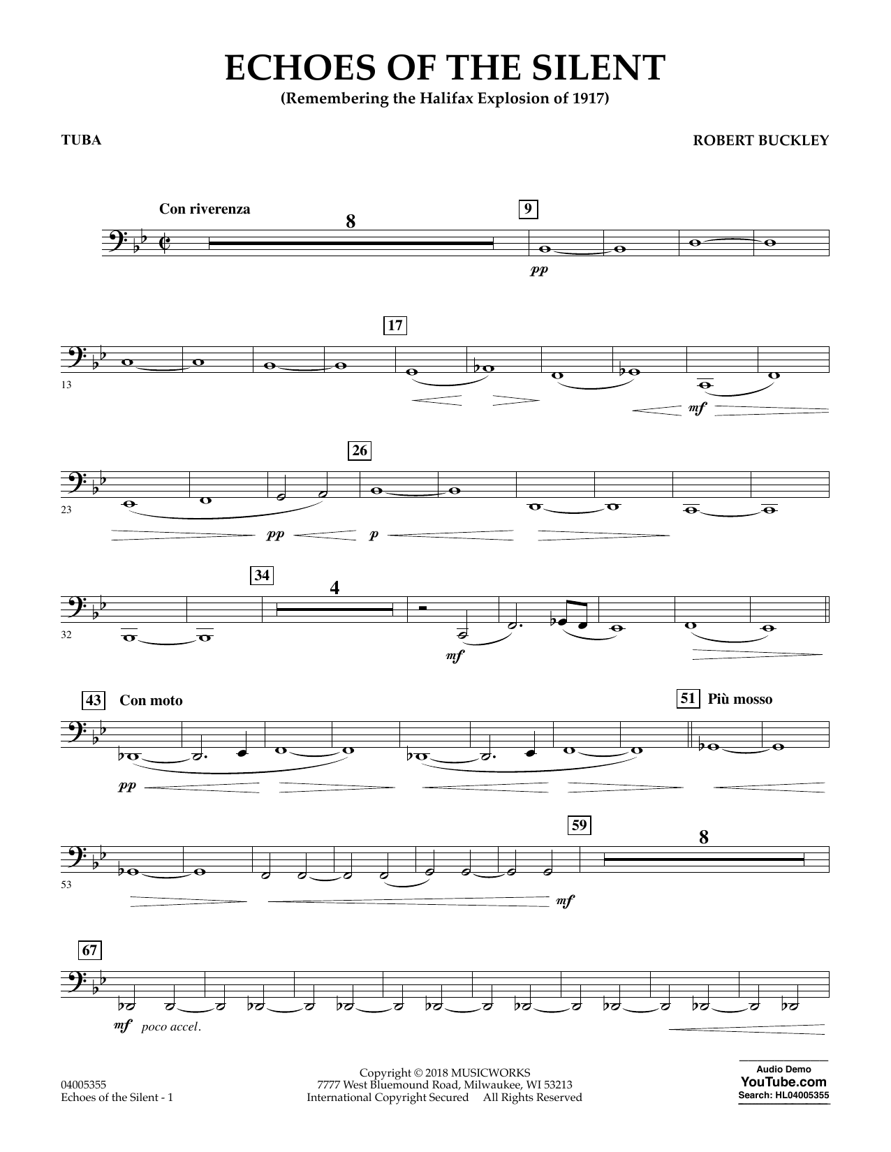 Echoes of the Silent - Tuba (Concert Band)