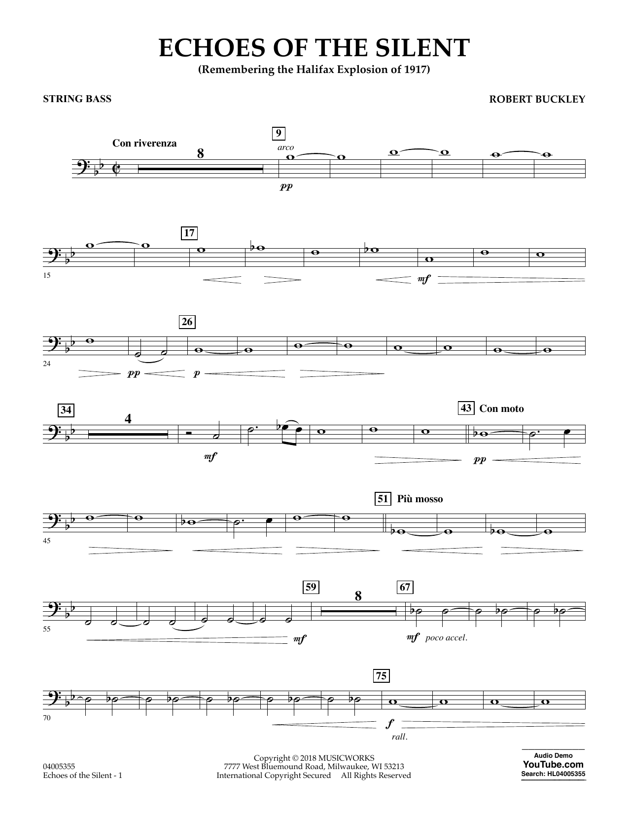 Echoes of the Silent - String Bass (Concert Band)