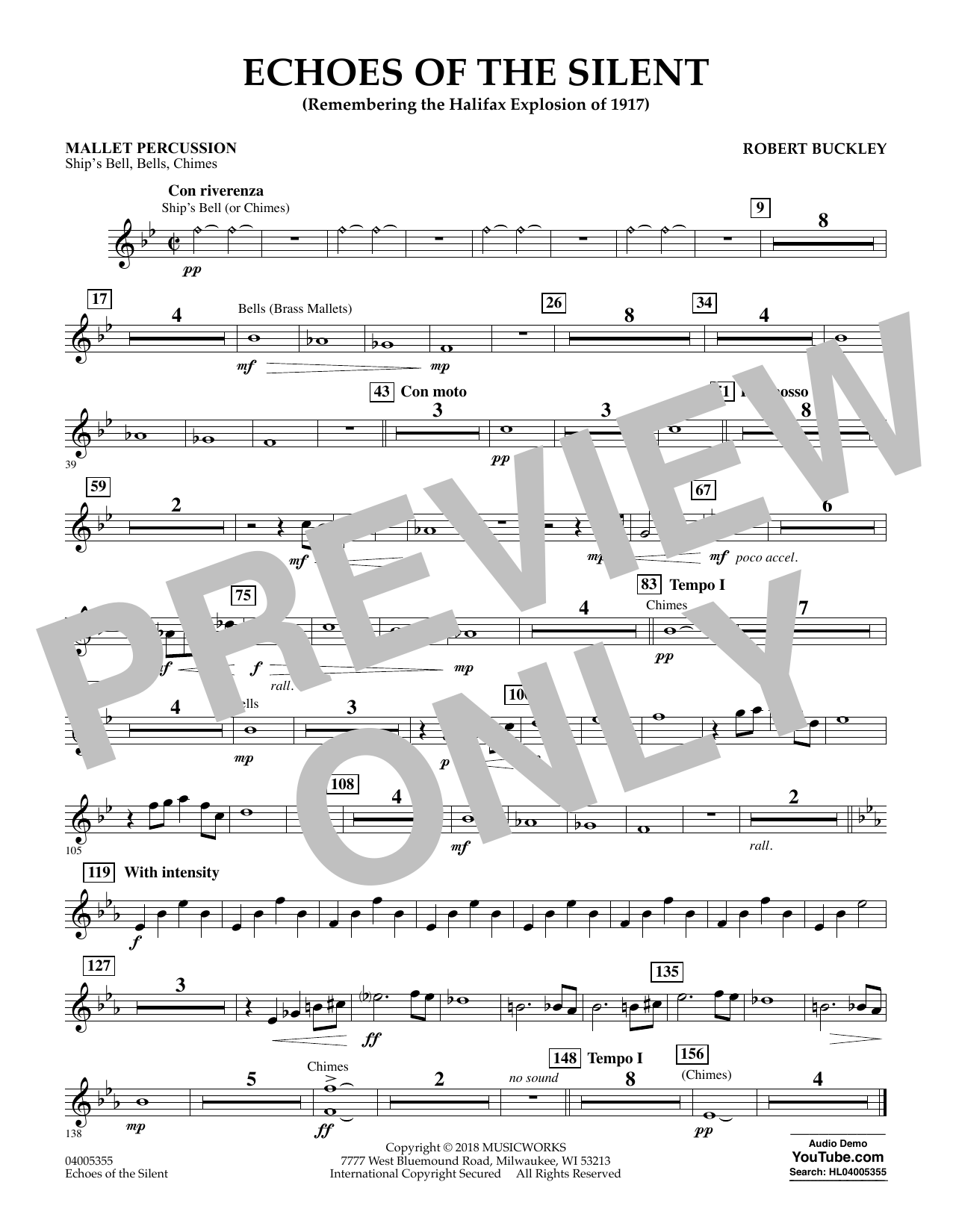Echoes of the Silent - Mallet Percussion (Concert Band)