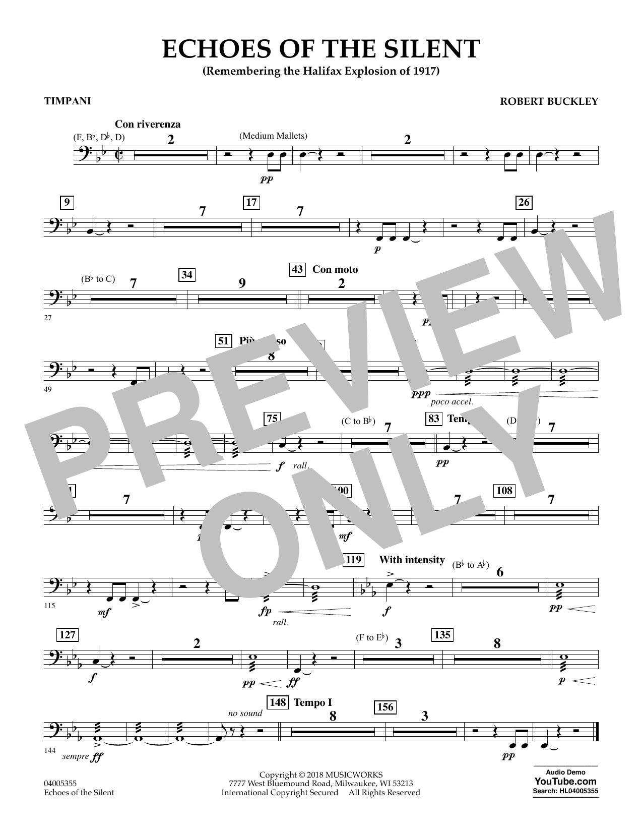 Echoes of the Silent - Timpani (Concert Band)