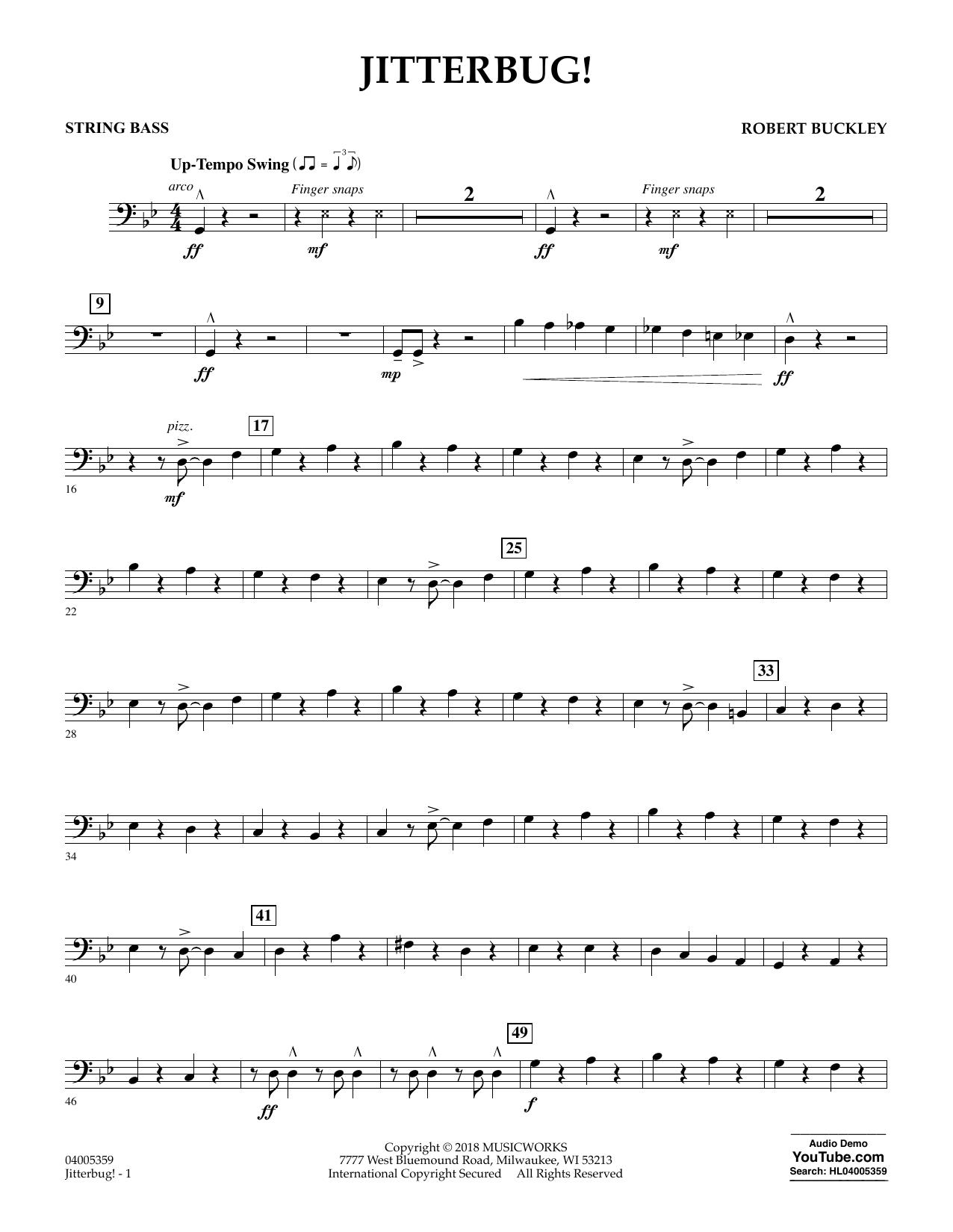 Jitterbug! - String Bass (Concert Band)
