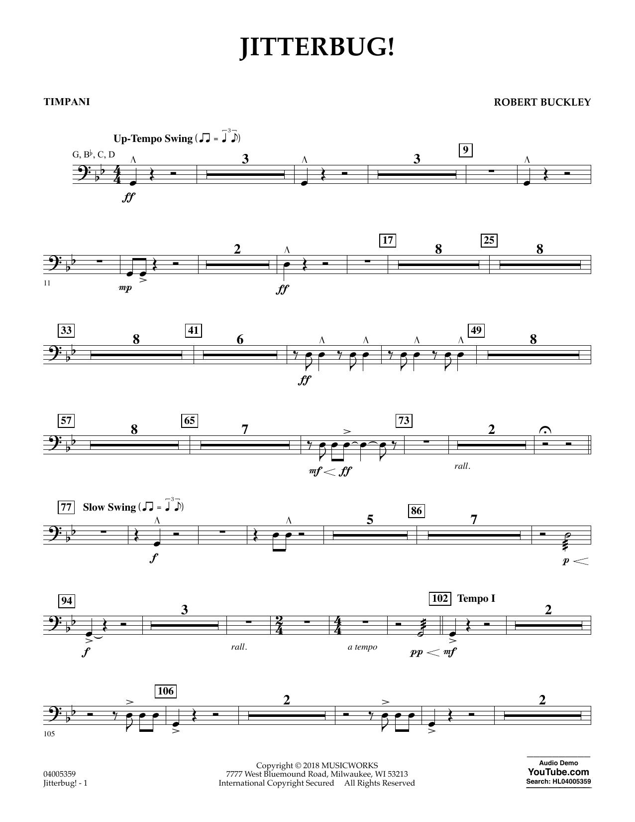 Jitterbug! - Timpani (Concert Band)