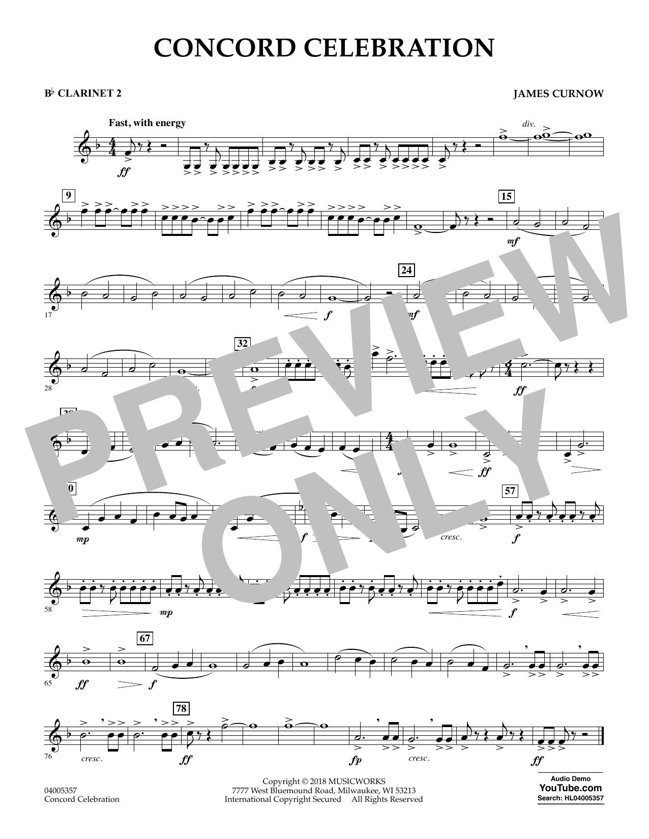 Concord Celebration - Bb Clarinet 2 (Concert Band)