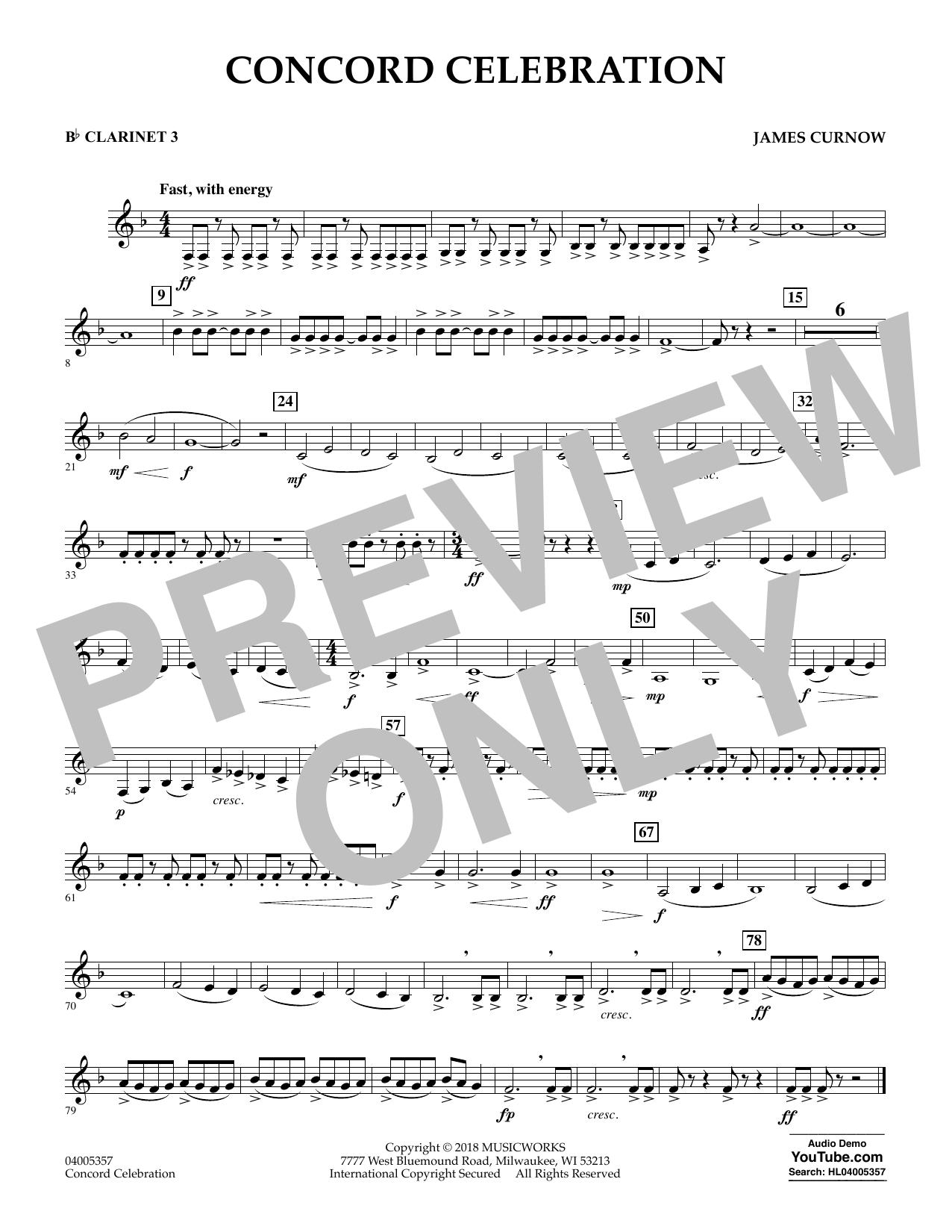 Concord Celebration - Bb Clarinet 3 (Concert Band)
