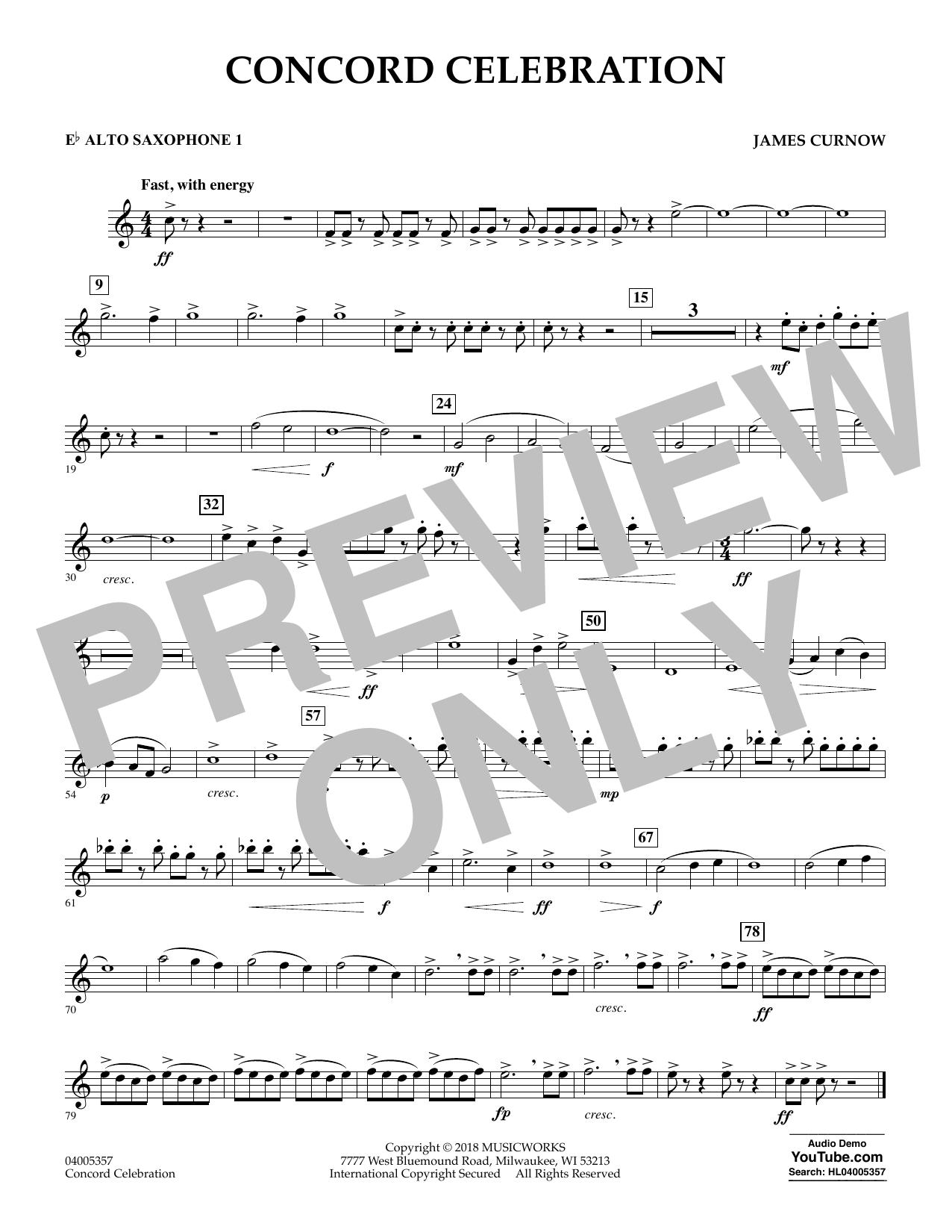 Concord Celebration - Eb Alto Saxophone 1 (Concert Band)