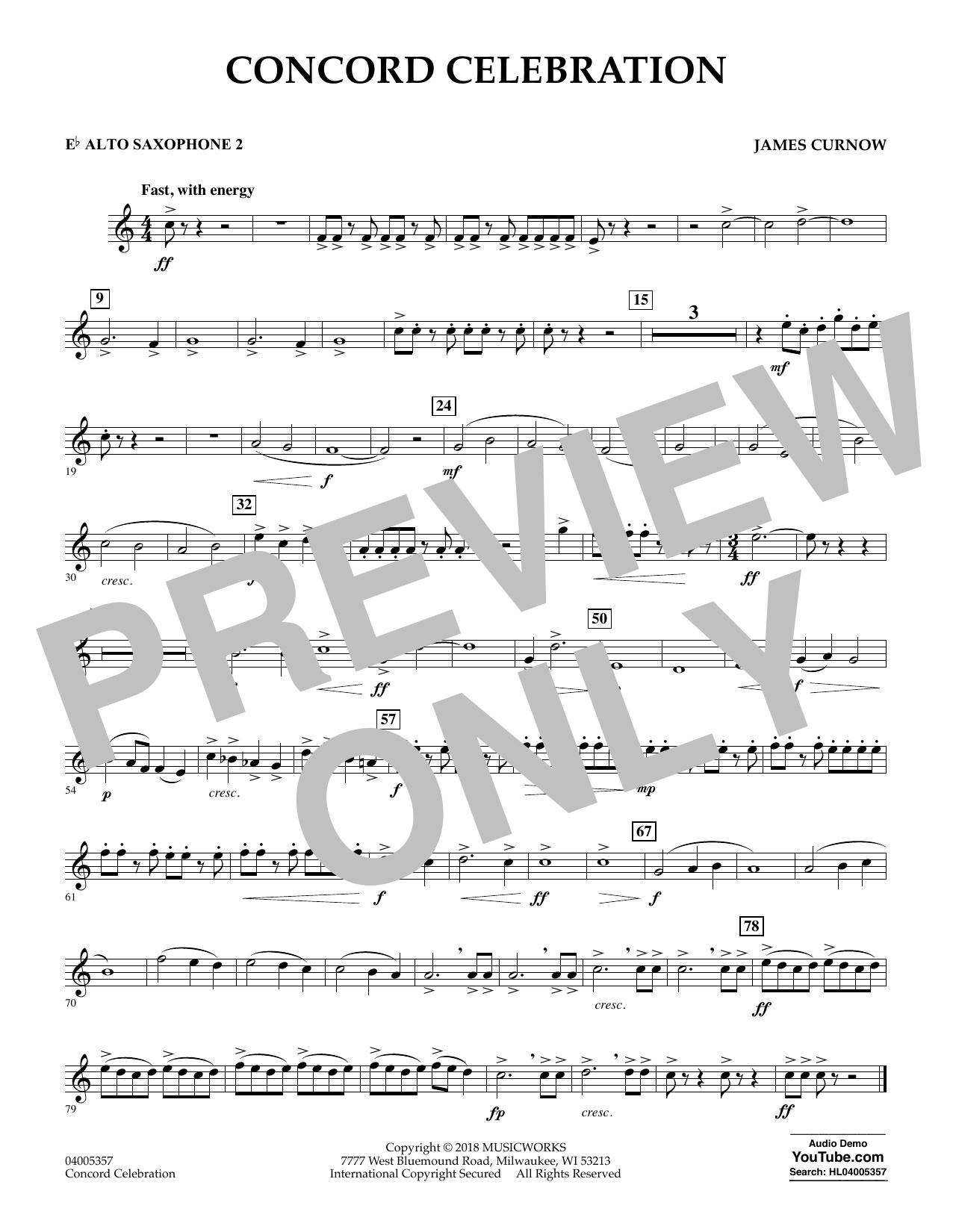 Concord Celebration - Eb Alto Saxophone 2 (Concert Band)