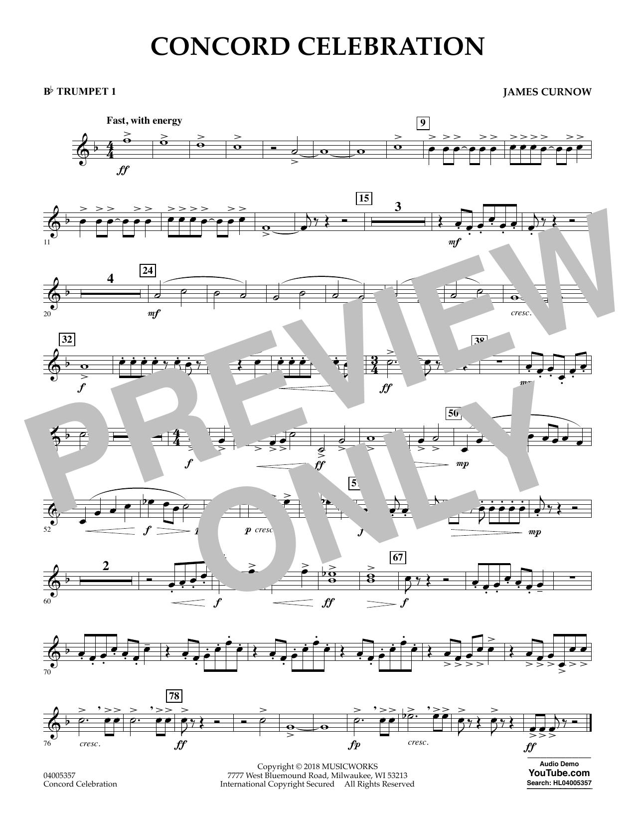 Concord Celebration - Bb Trumpet 1 (Concert Band)