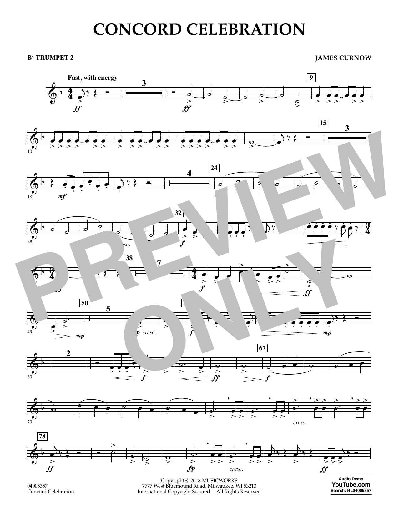 Concord Celebration - Bb Trumpet 2 (Concert Band)