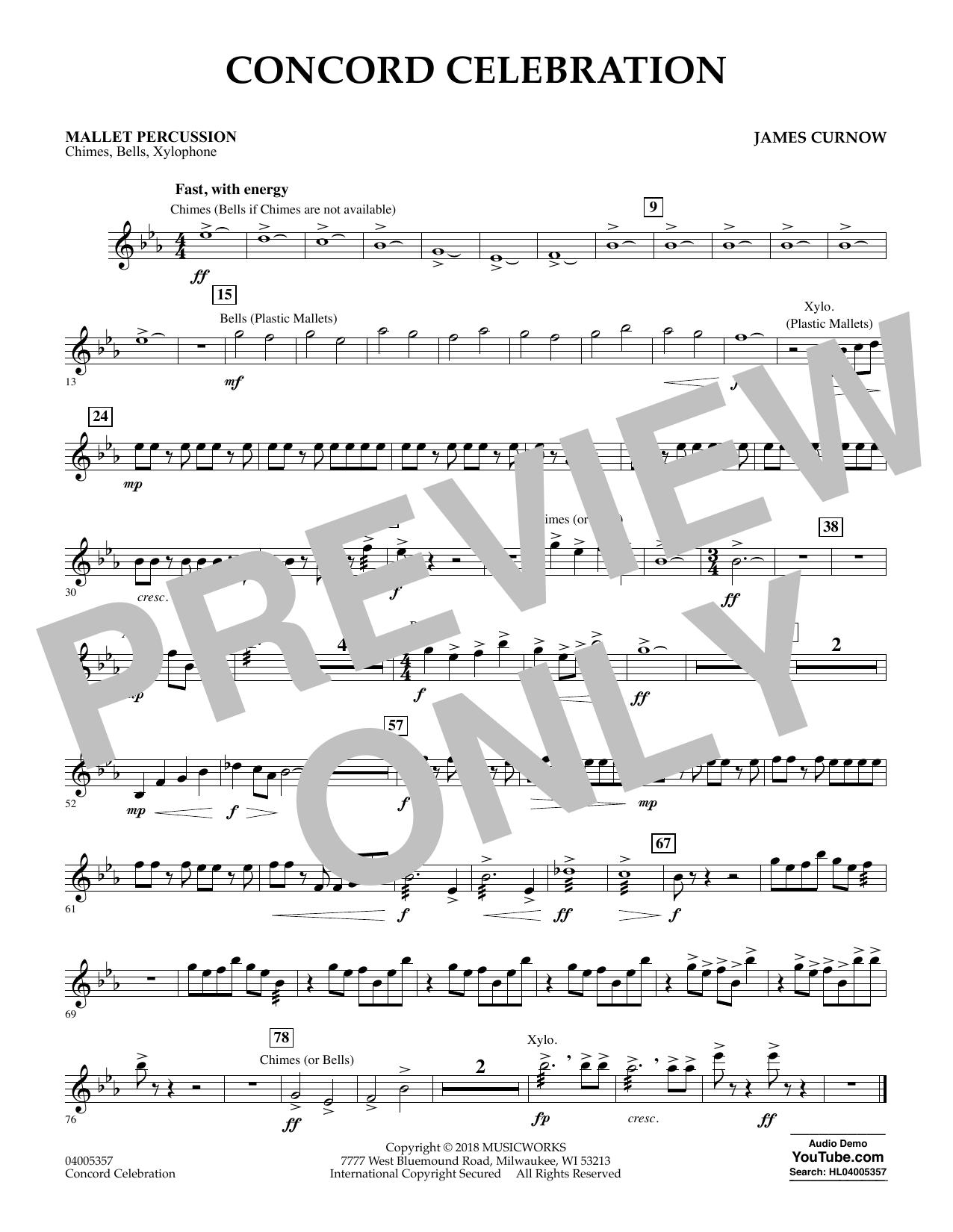 Concord Celebration - Mallet Percussion (Concert Band)