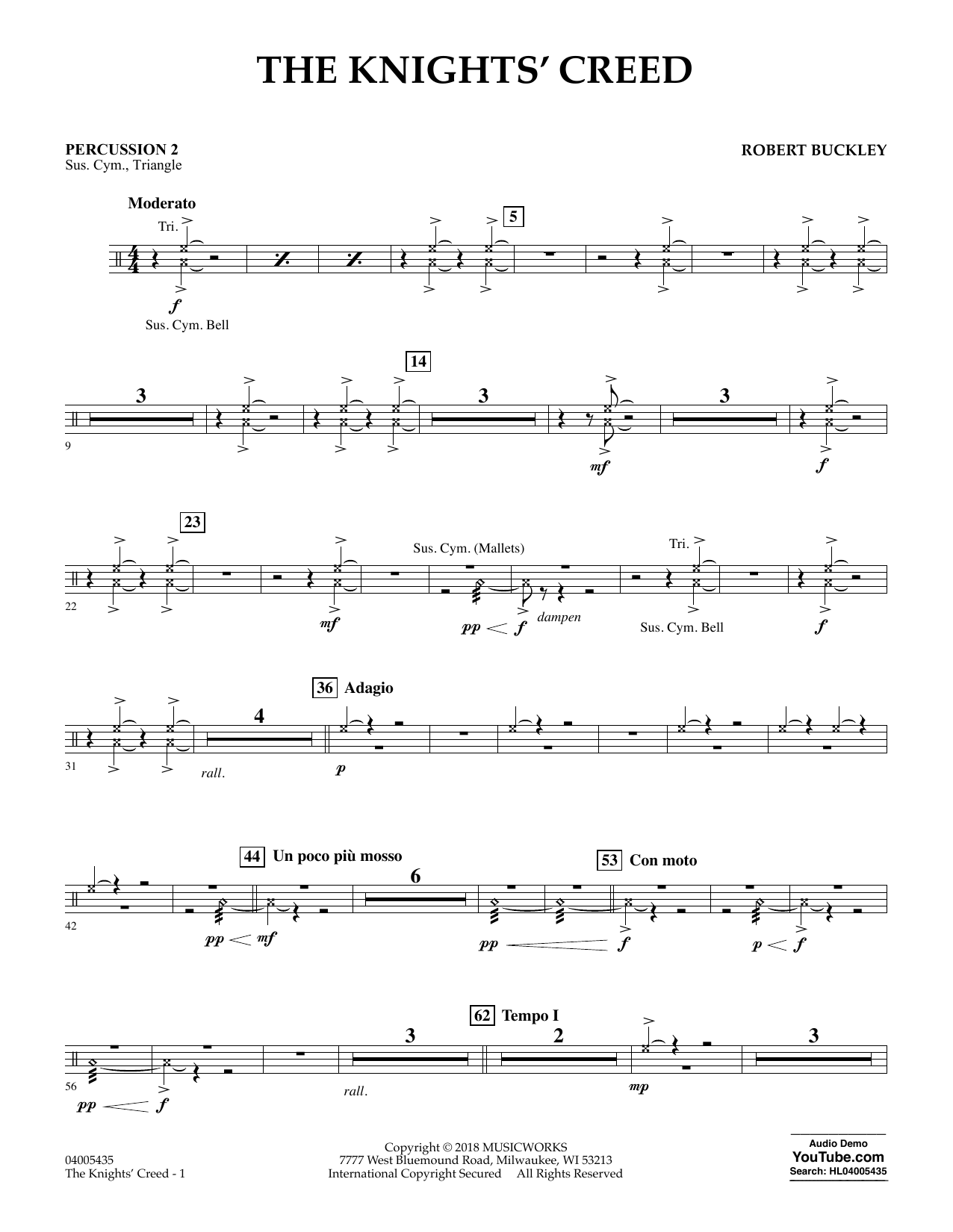 The Knights' Creed - Percussion 2 (Concert Band)