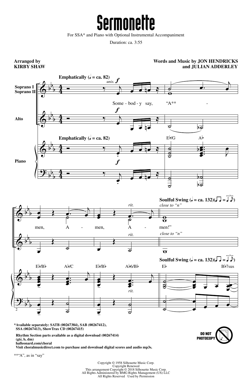 Sermonette Sheet Music