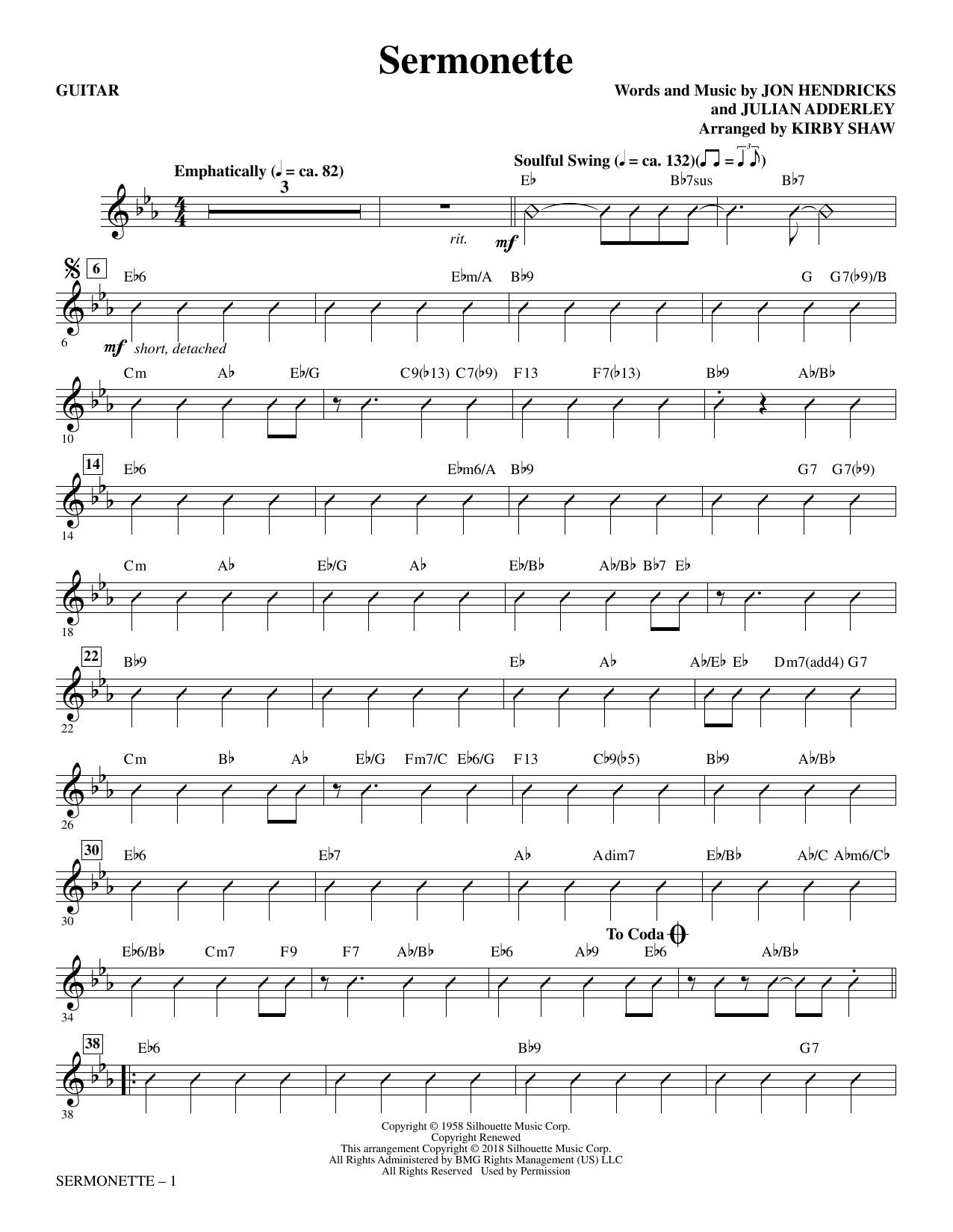 Sermonette - Guitar (Choir Instrumental Pak)