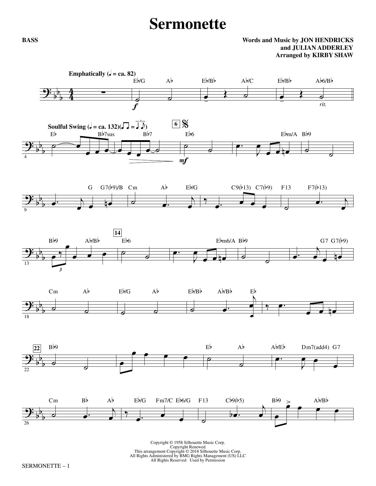 Sermonette - Bass (Choir Instrumental Pak)