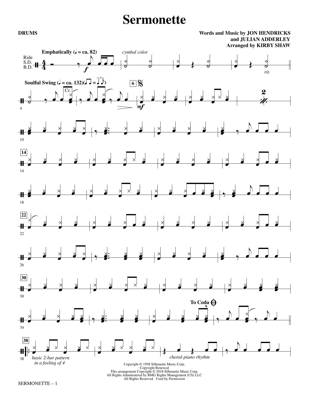 Sermonette - Drums (Choir Instrumental Pak)