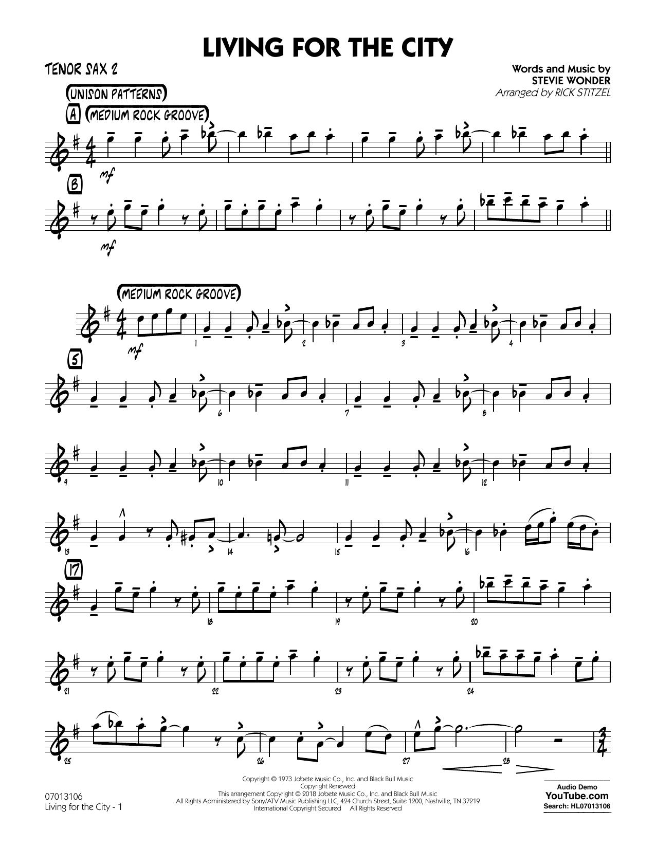 Living for the City - Tenor Sax 2 (Jazz Ensemble)