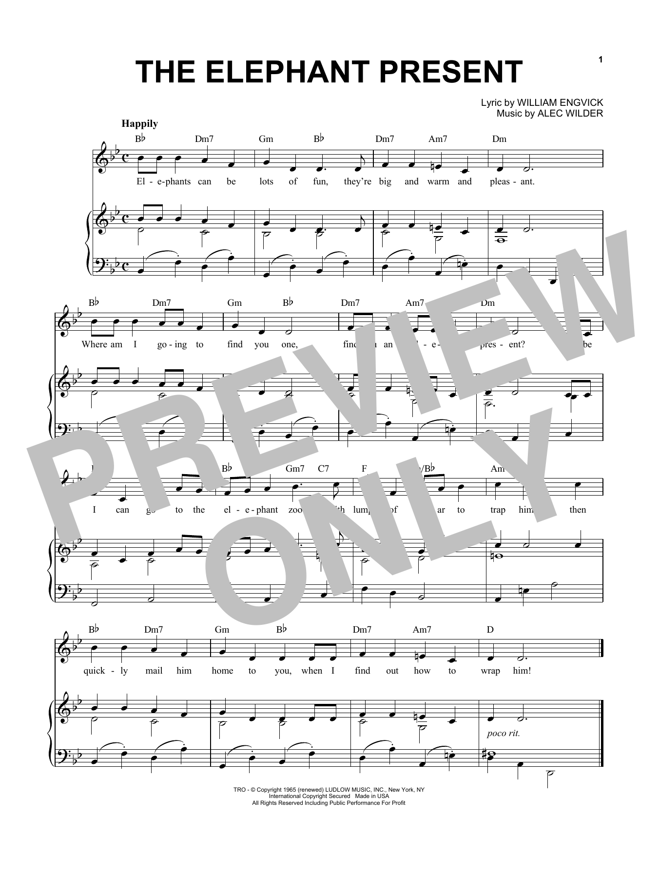 The Elephant Present (Piano & Vocal)