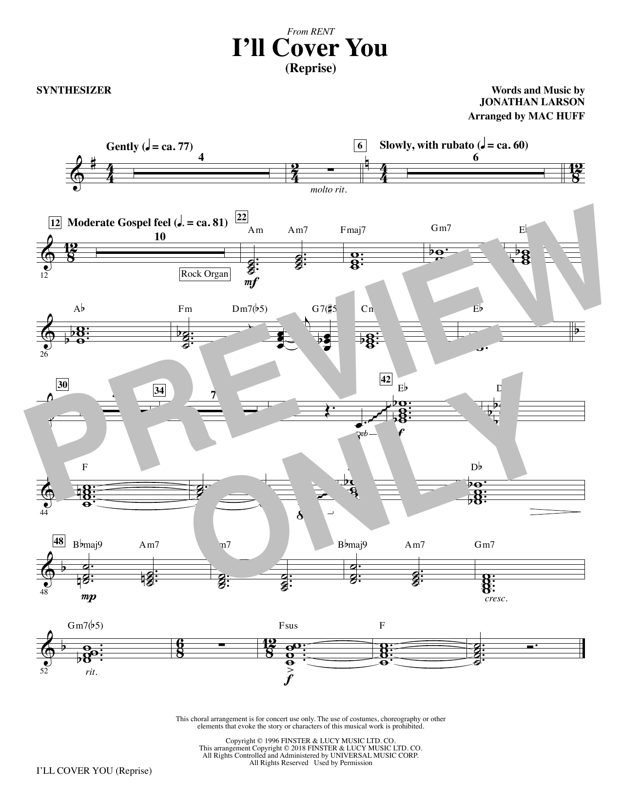 I'll Cover You (Reprise) - Synthesizer (Choir Instrumental Pak)