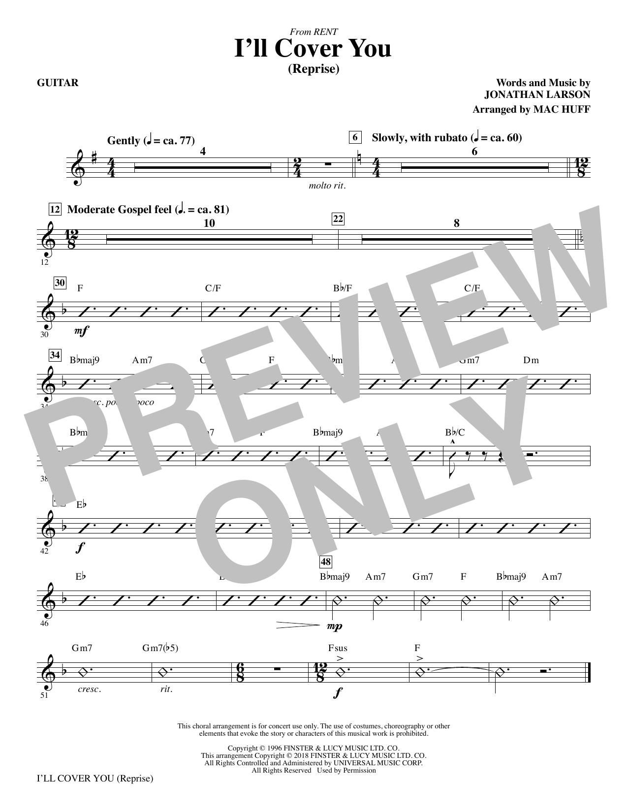 I'll Cover You (Reprise) - Guitar (Choir Instrumental Pak)
