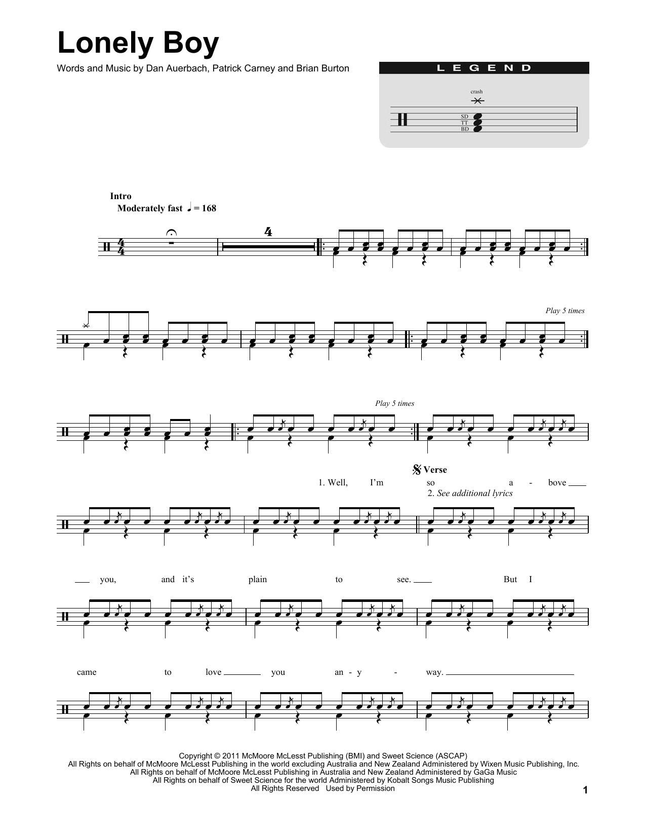 Lonely Boy Sheet Music