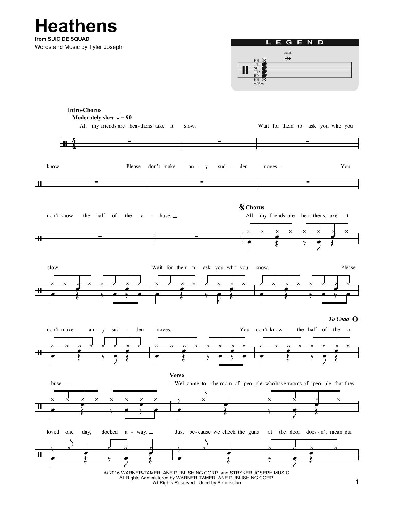 Heathens Sheet Music